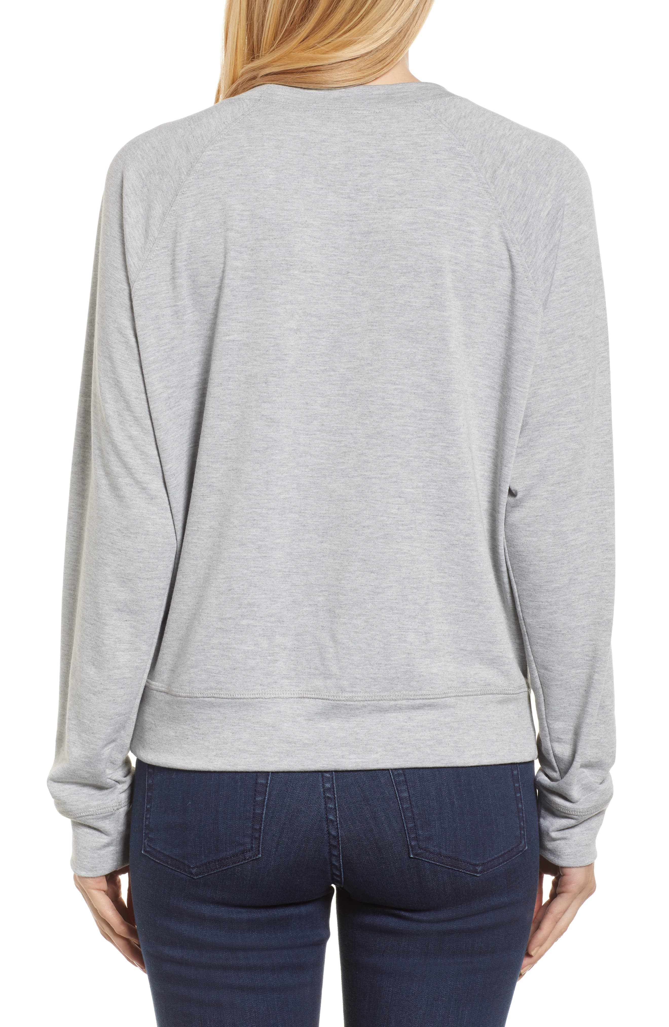 Off-Duty Tired as a Mother Sweatshirt,                             Alternate thumbnail 2, color,                             Grey Heather