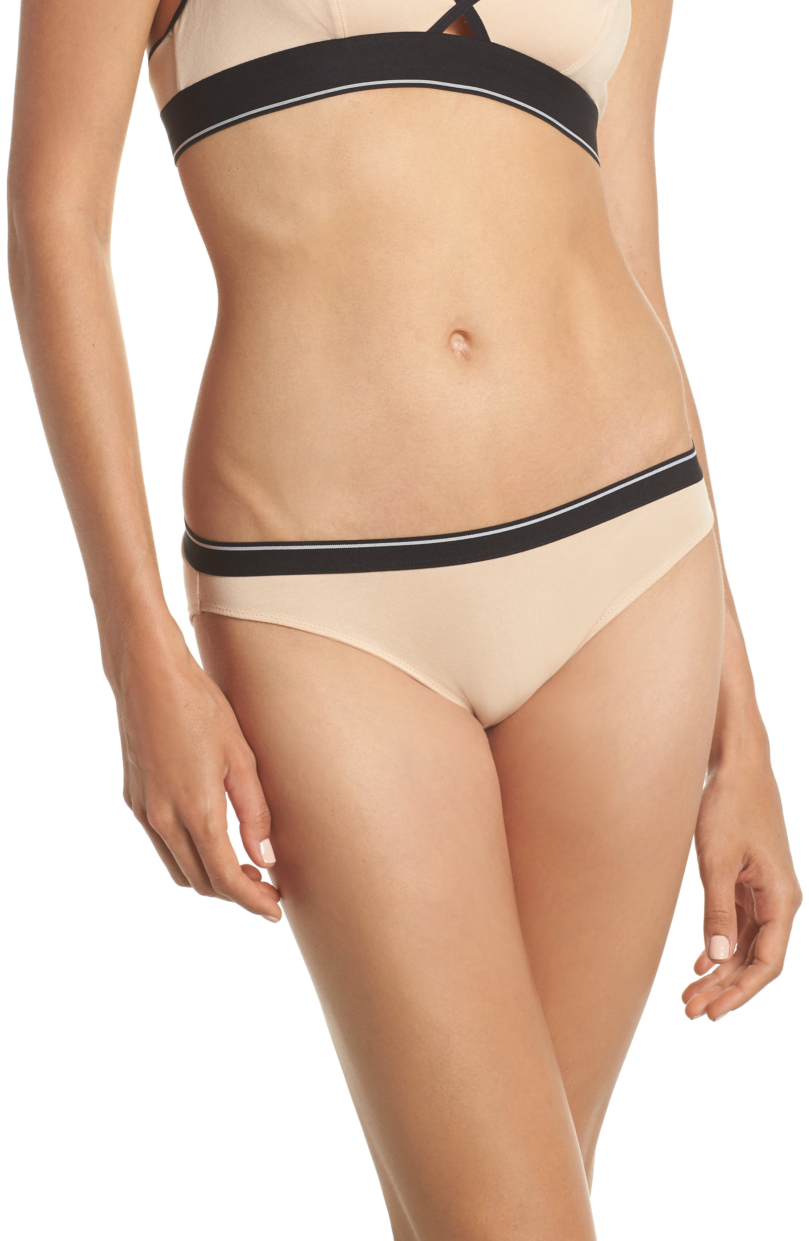 Stripe Bikini,                         Main,                         color, Tawny Sand