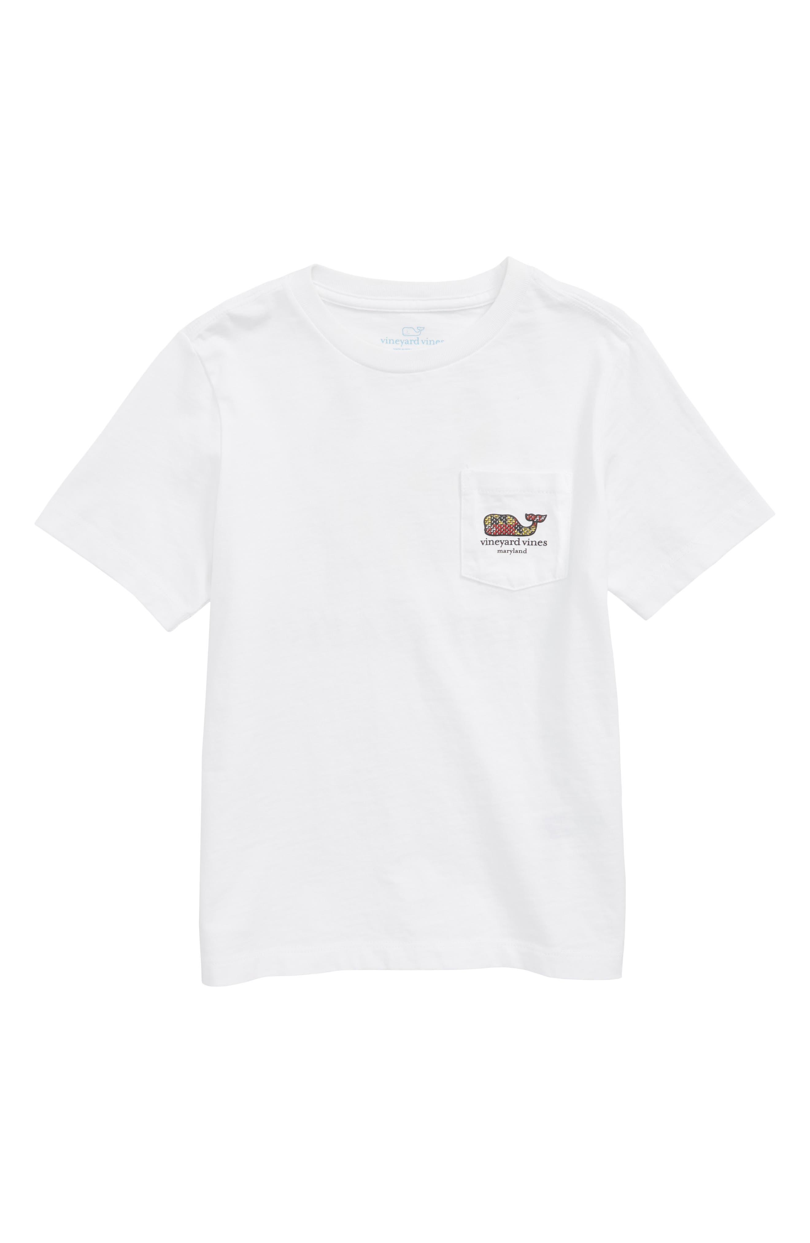 Maryland Crab Graphic Pocket T-Shirt,                             Main thumbnail 1, color,                             White Cap