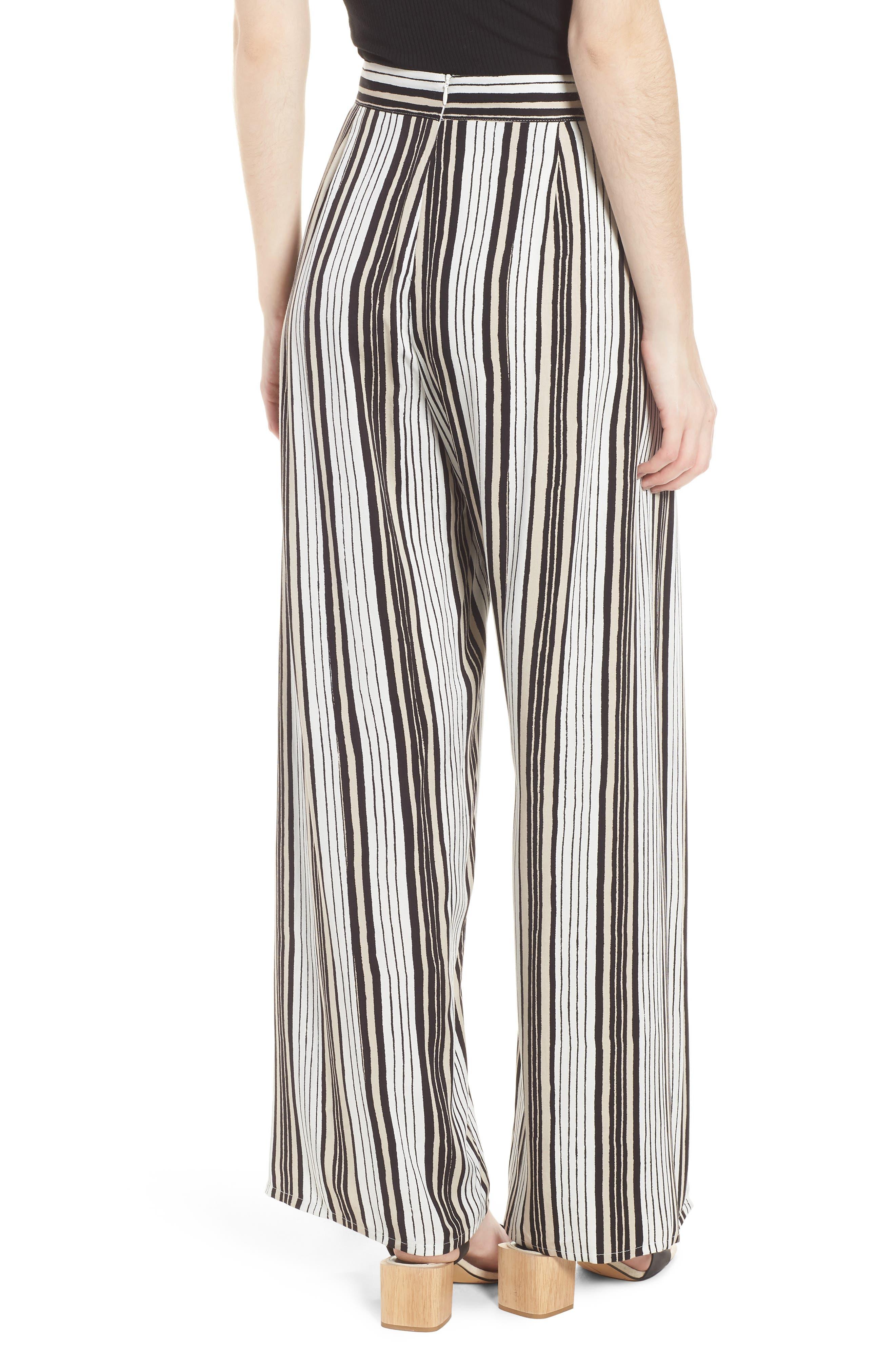 Avah Stripe Pants,                             Alternate thumbnail 2, color,                             Ivory