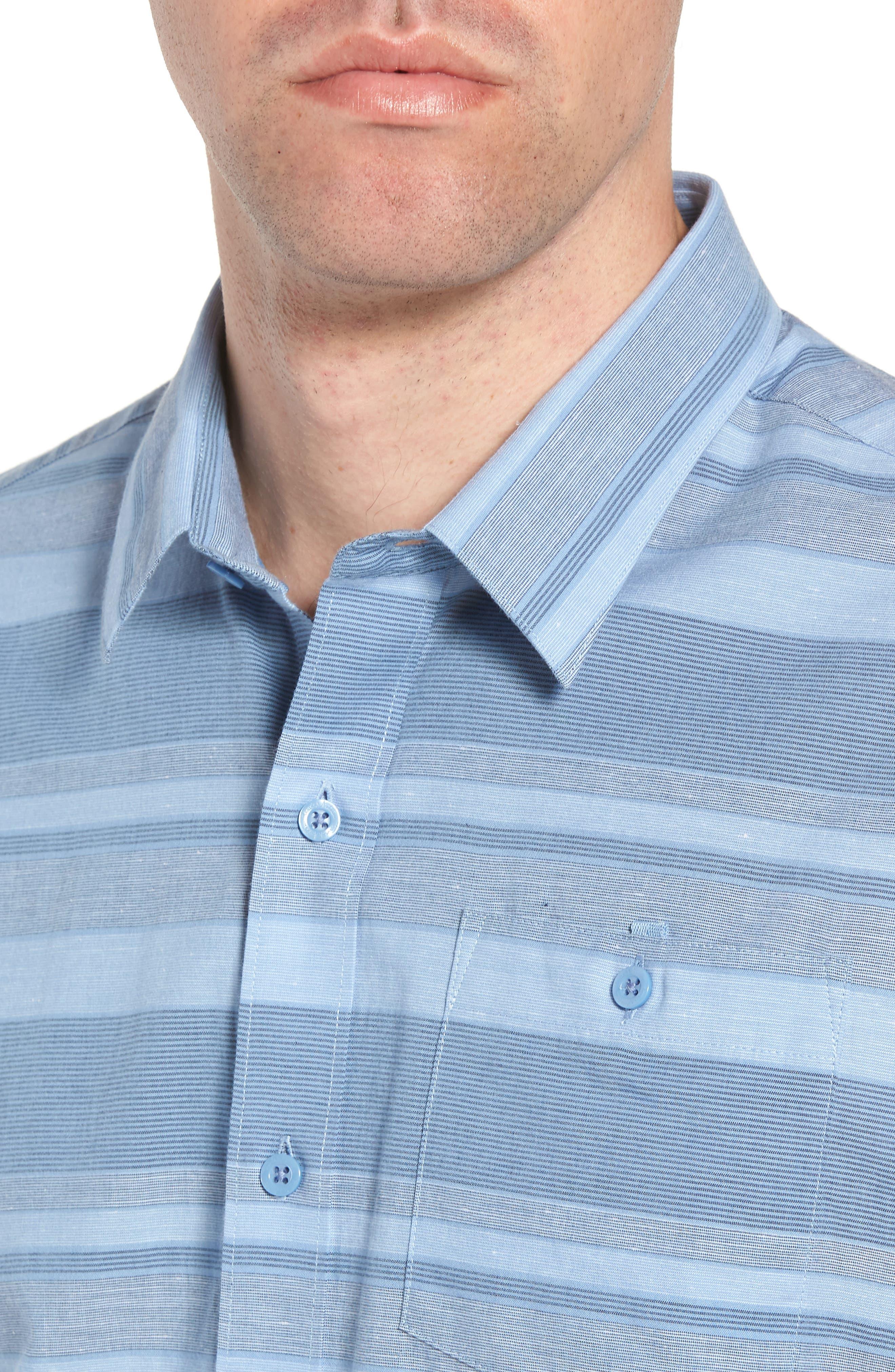Mahe Regular Fit Sport Shirt,                             Alternate thumbnail 2, color,                             Heather Blue Nights