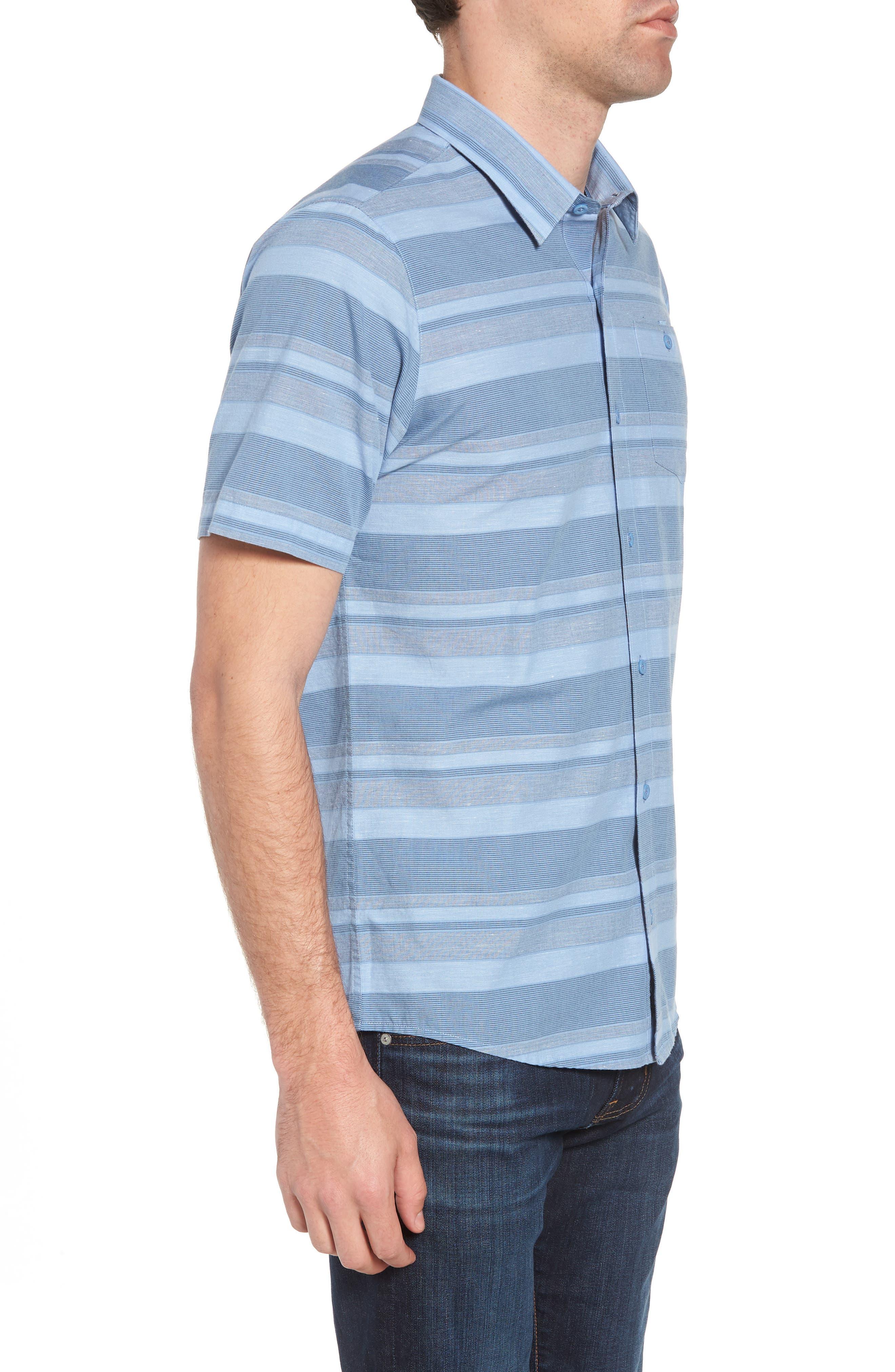 Mahe Regular Fit Sport Shirt,                             Alternate thumbnail 4, color,                             Heather Blue Nights