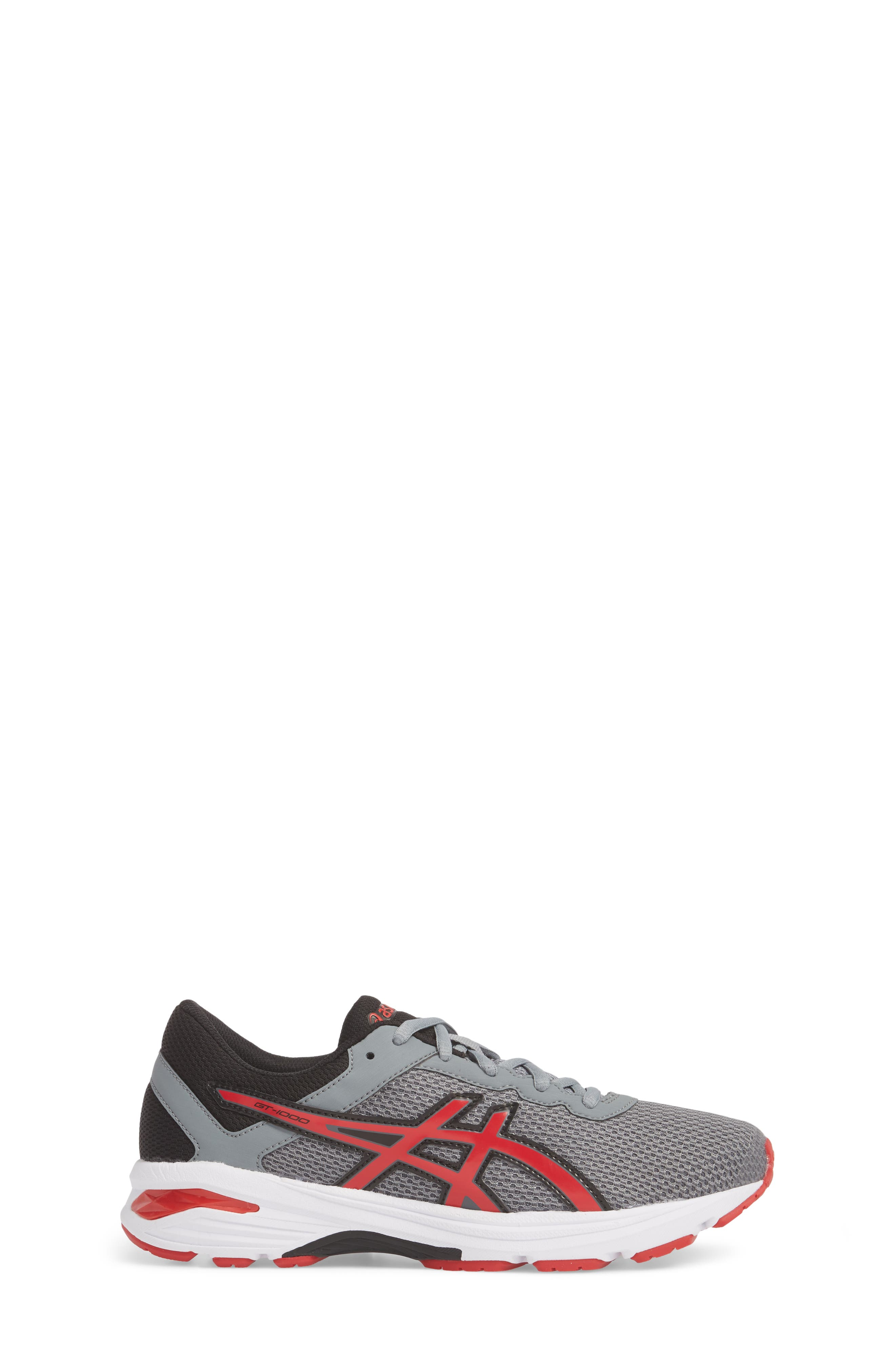 Asics GT-1000<sup>™</sup> 6 GS Sneaker,                             Alternate thumbnail 3, color,                             Stone Grey/ Classic Red/ Black