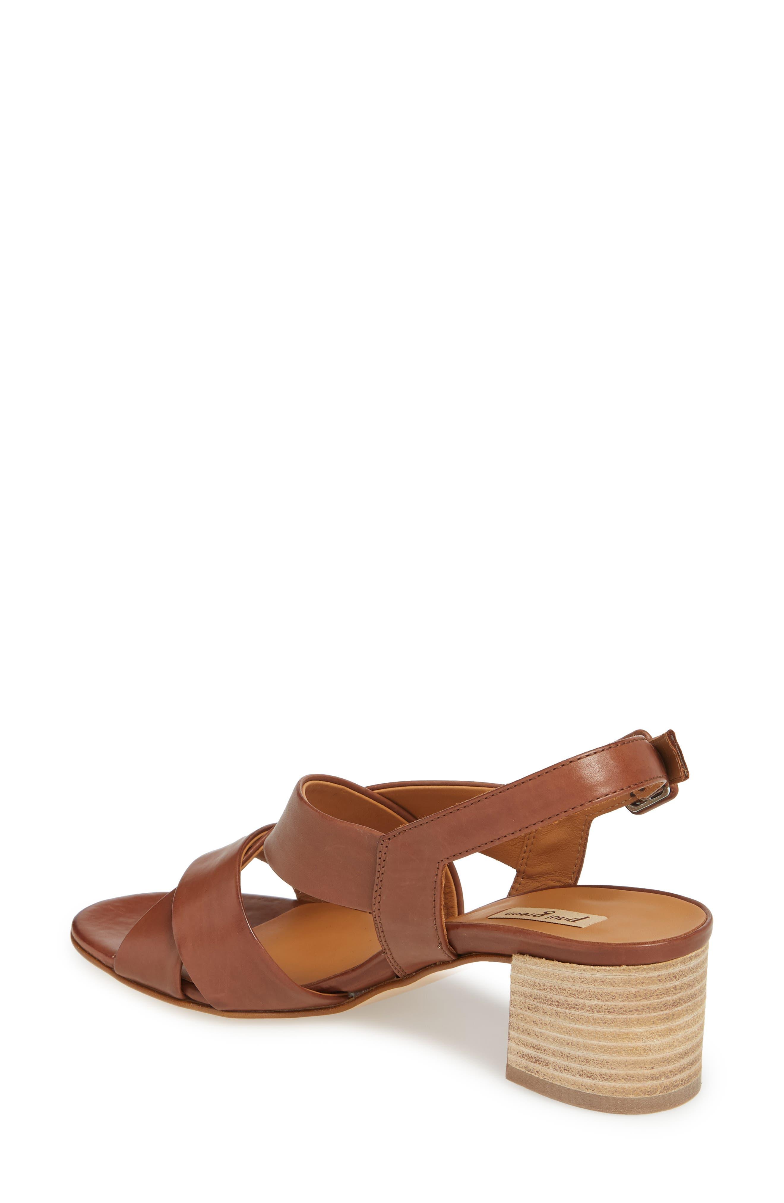 Reese Slingback Sandal,                             Alternate thumbnail 2, color,                             Nougat Leather