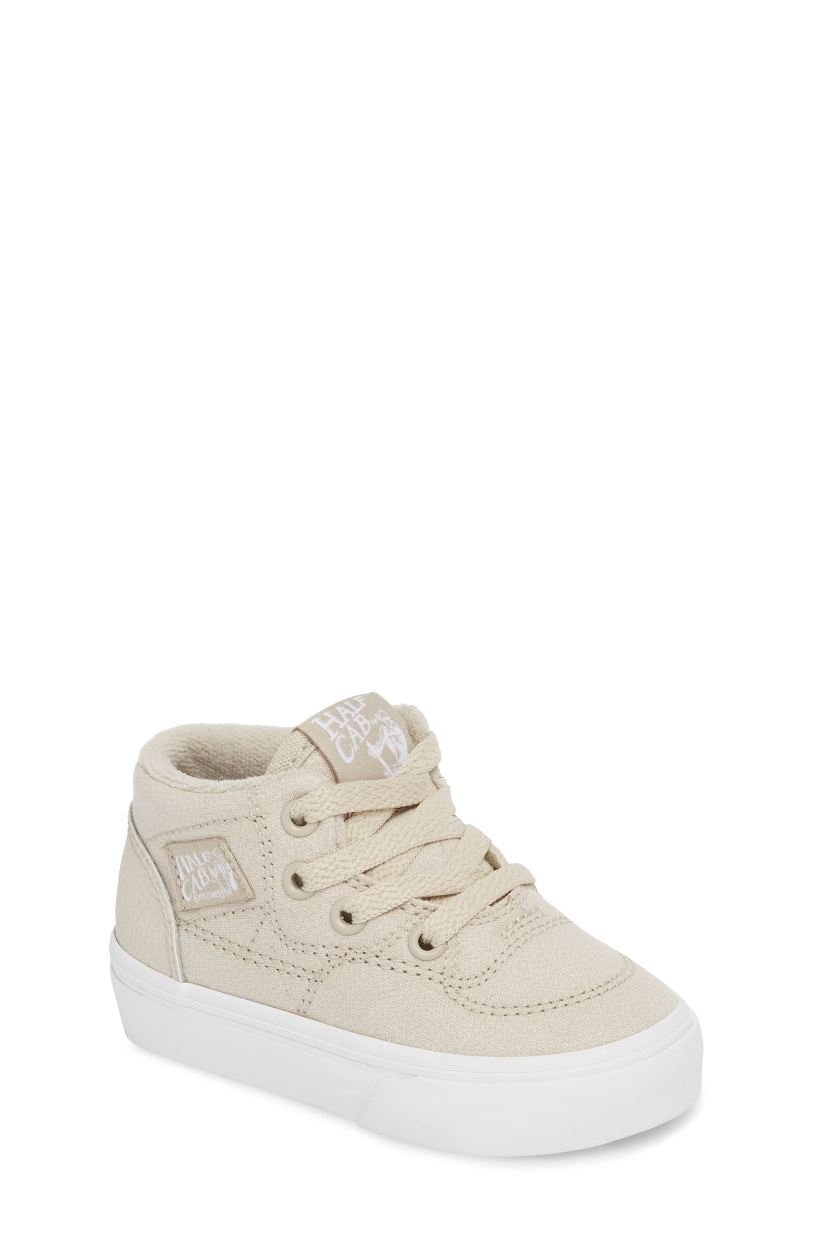 Half Cab Sneaker,                         Main,                         color, Suiting Silver/ True White