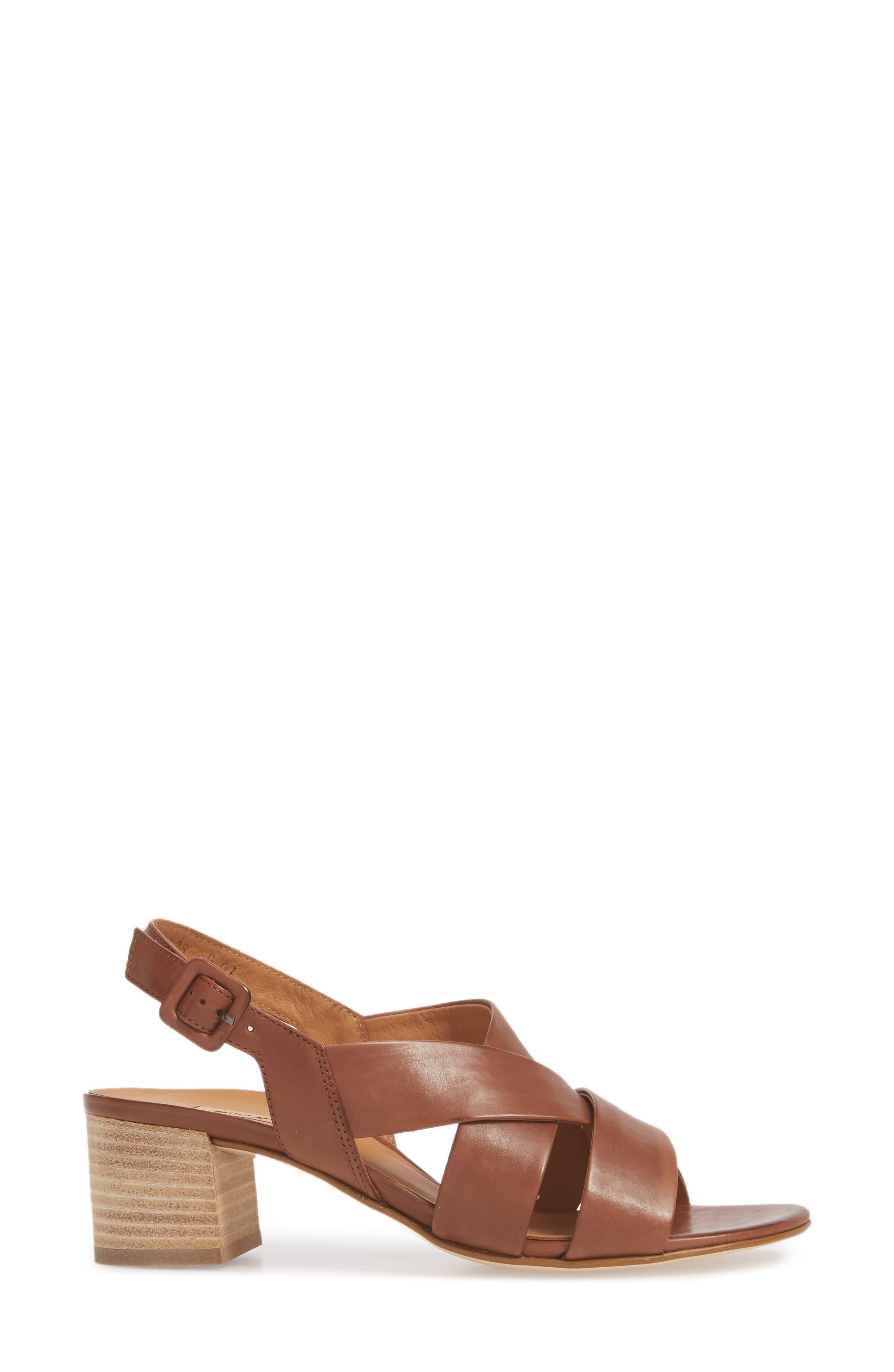 Reese Slingback Sandal,                             Alternate thumbnail 3, color,                             Nougat Leather