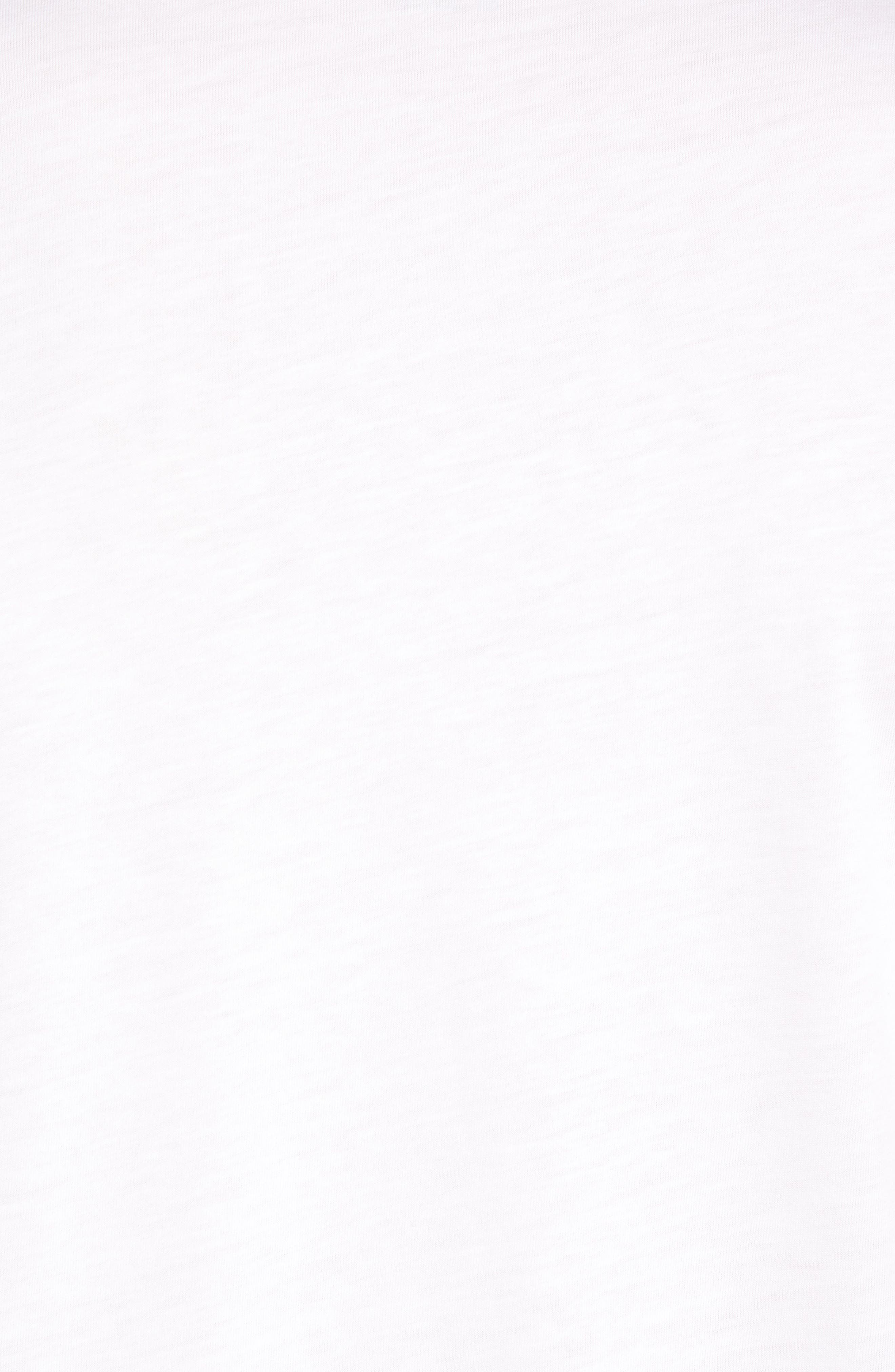 Chocolate Barrels Crewneck T-Shirt,                             Alternate thumbnail 5, color,                             White