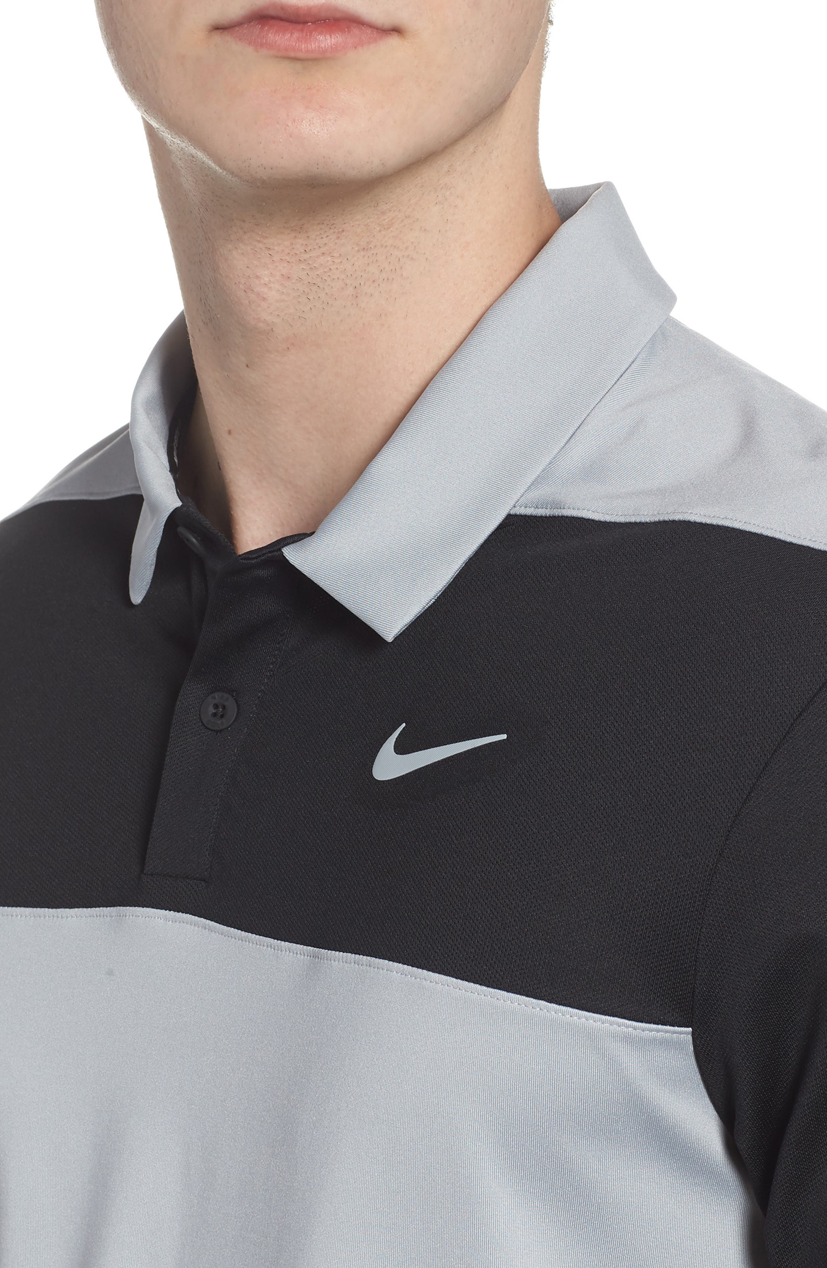 Golf Dry Color Polo,                             Alternate thumbnail 4, color,                             Wolf Grey/ Black/ Cool Grey