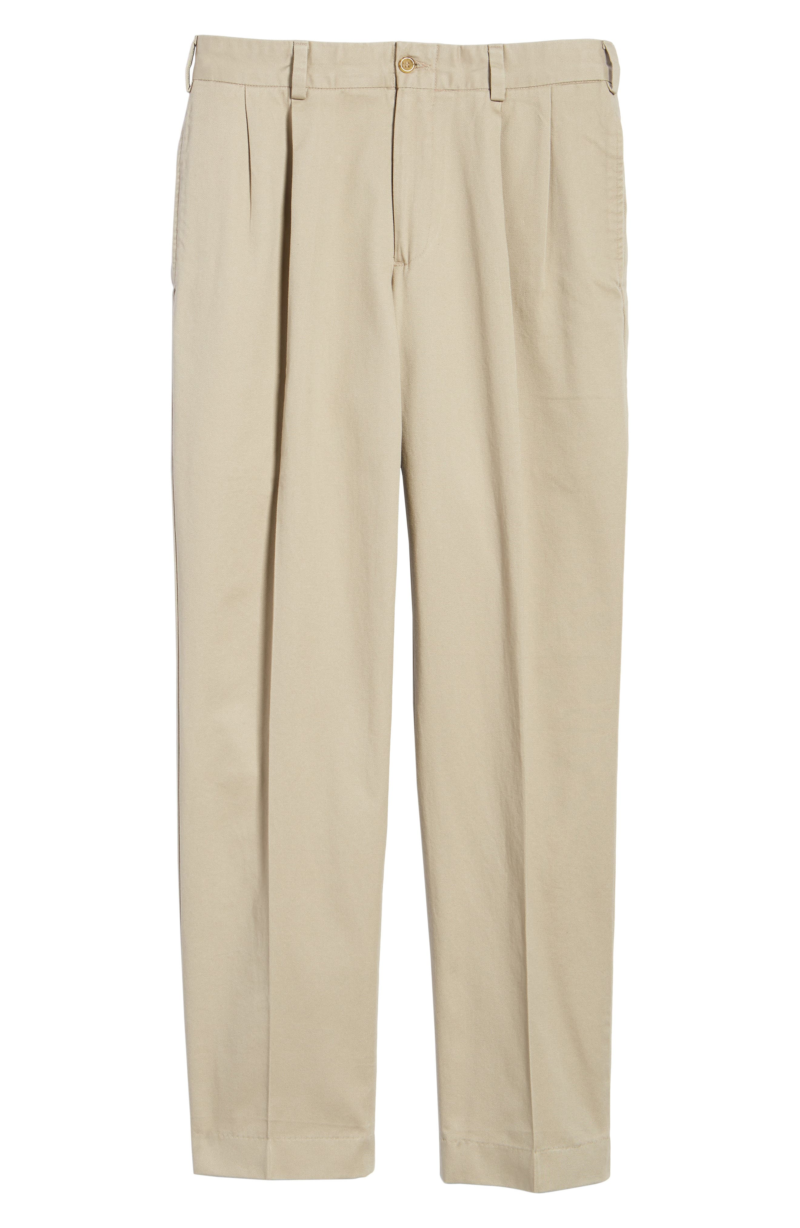 M2 Classic Fit Pleated Vintage Twill Pants,                             Alternate thumbnail 6, color,                             Khaki