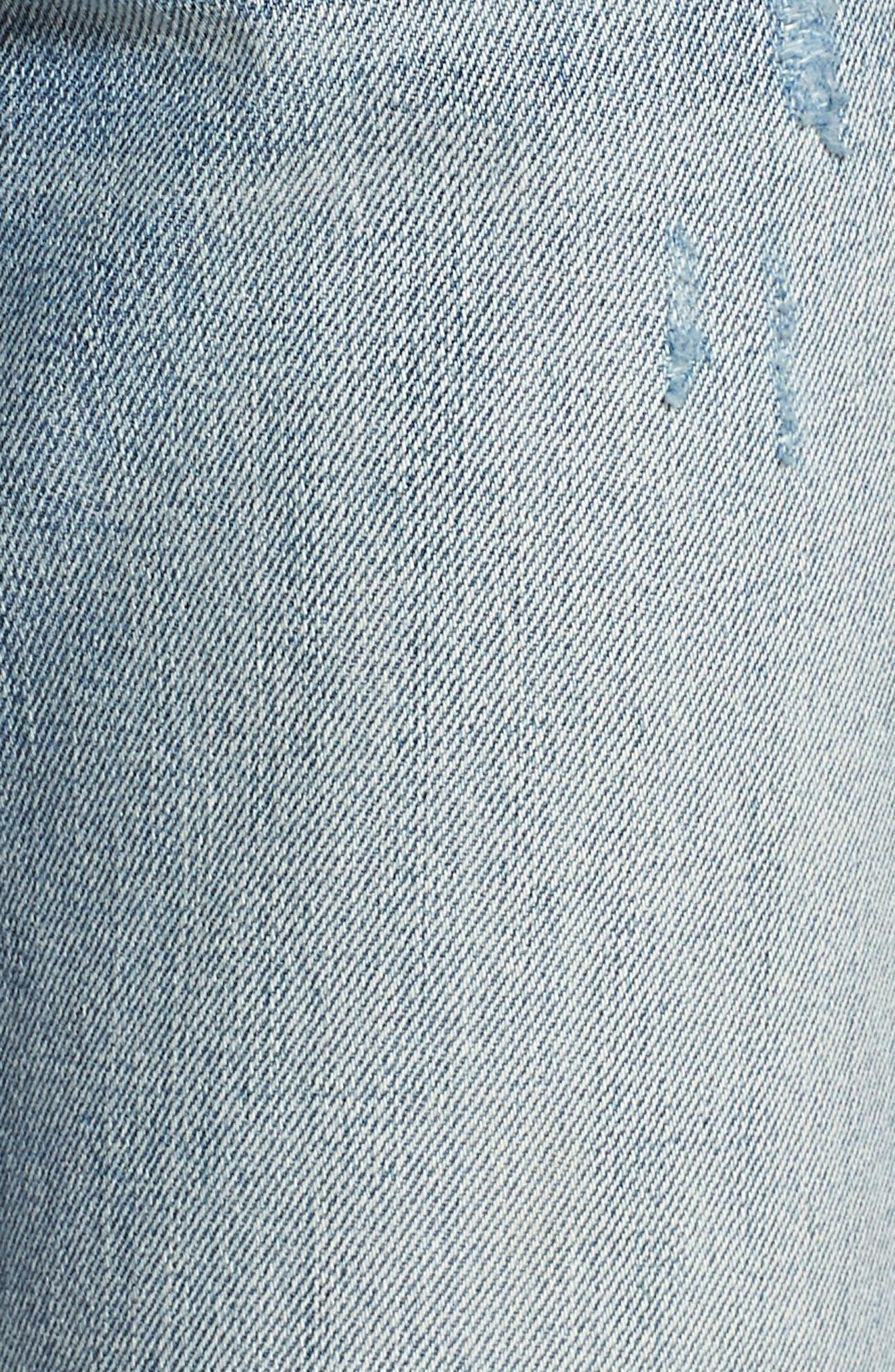 Now or Never Side Stripe Skinny Jeans,                             Alternate thumbnail 6, color,                             Blue