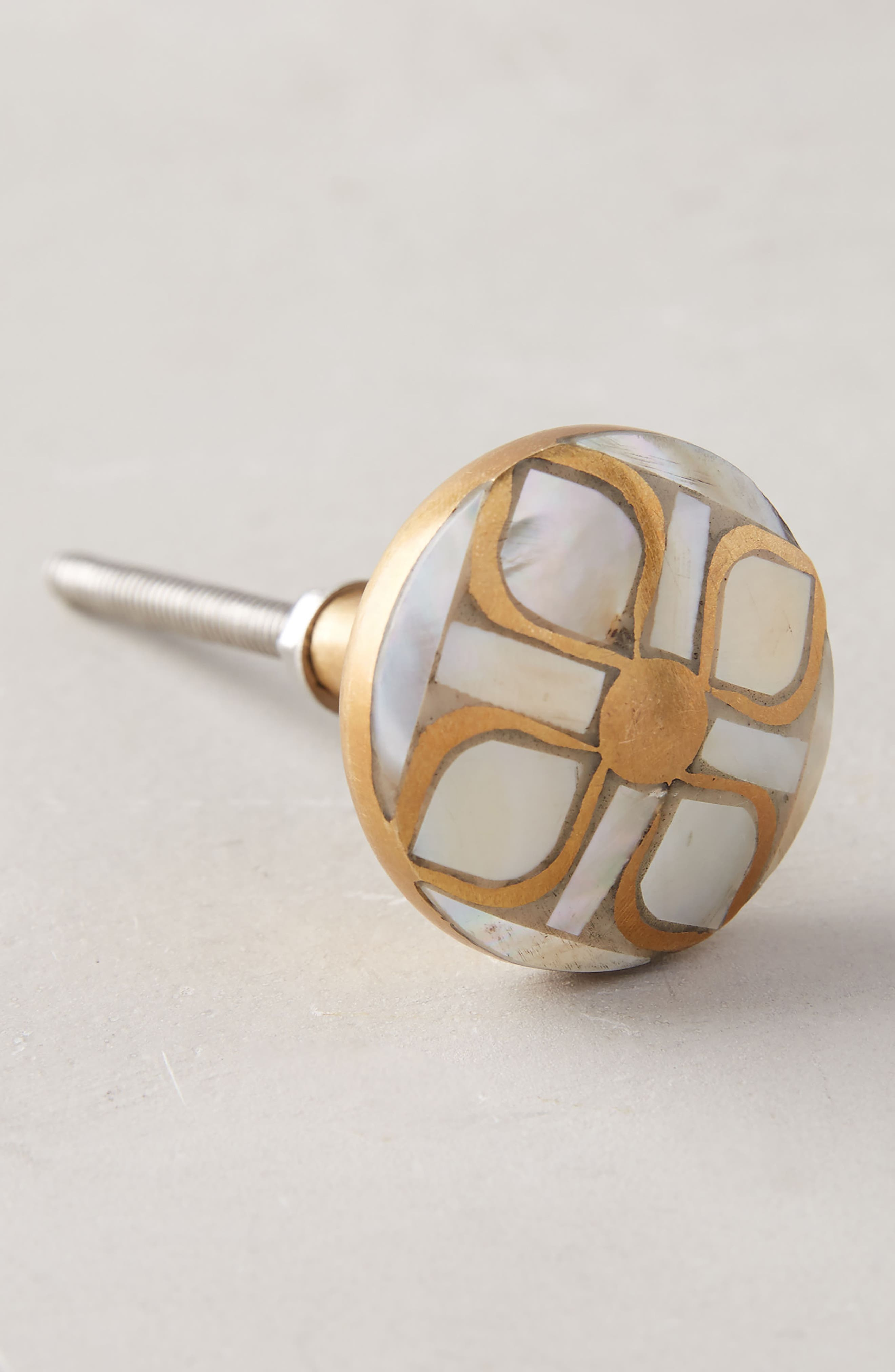 Serpentine Mother of Pearl Knob,                         Main,                         color, Neutral