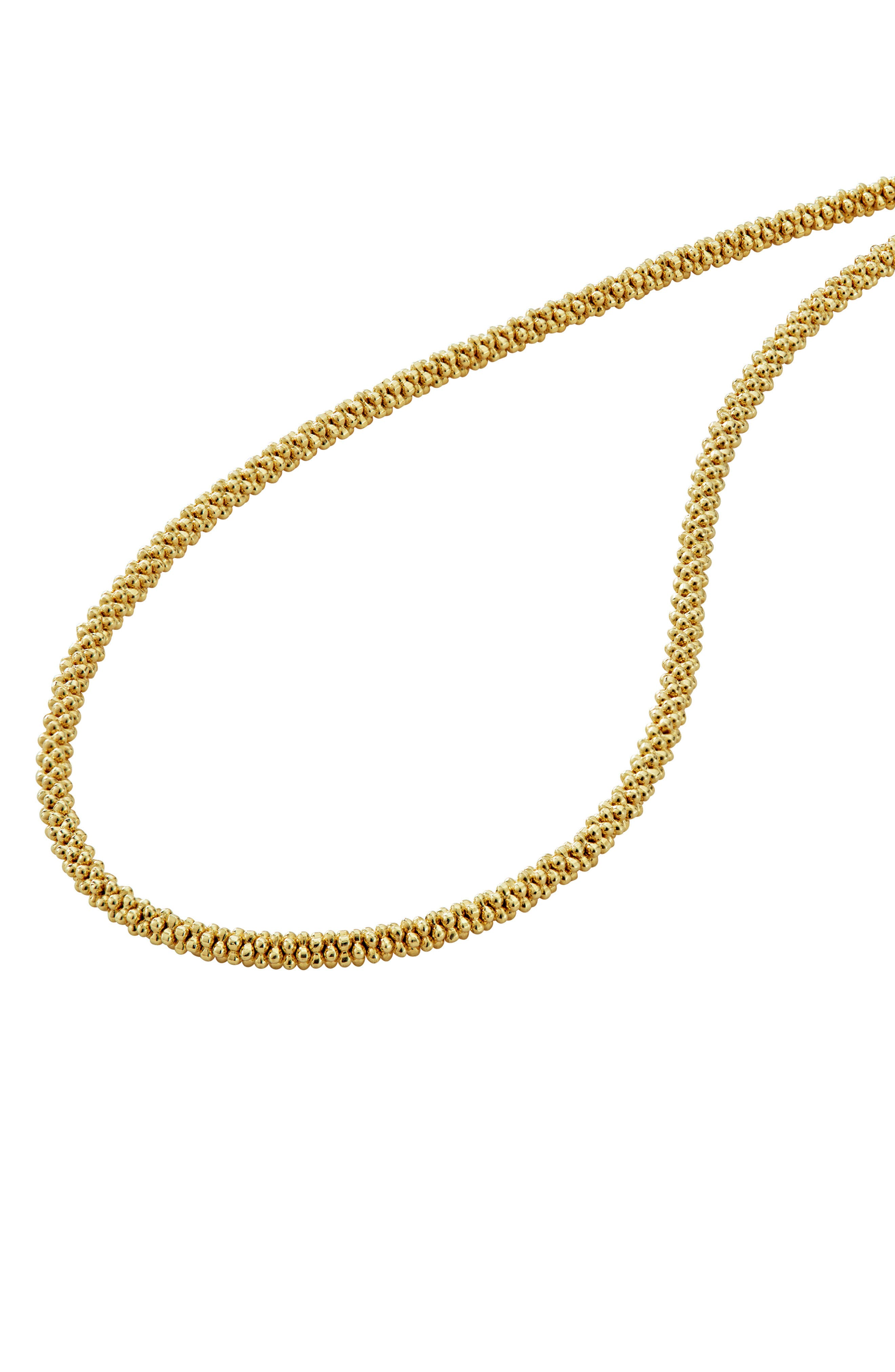 Caviar Gold Rope Necklace,                             Alternate thumbnail 5, color,                             Gold