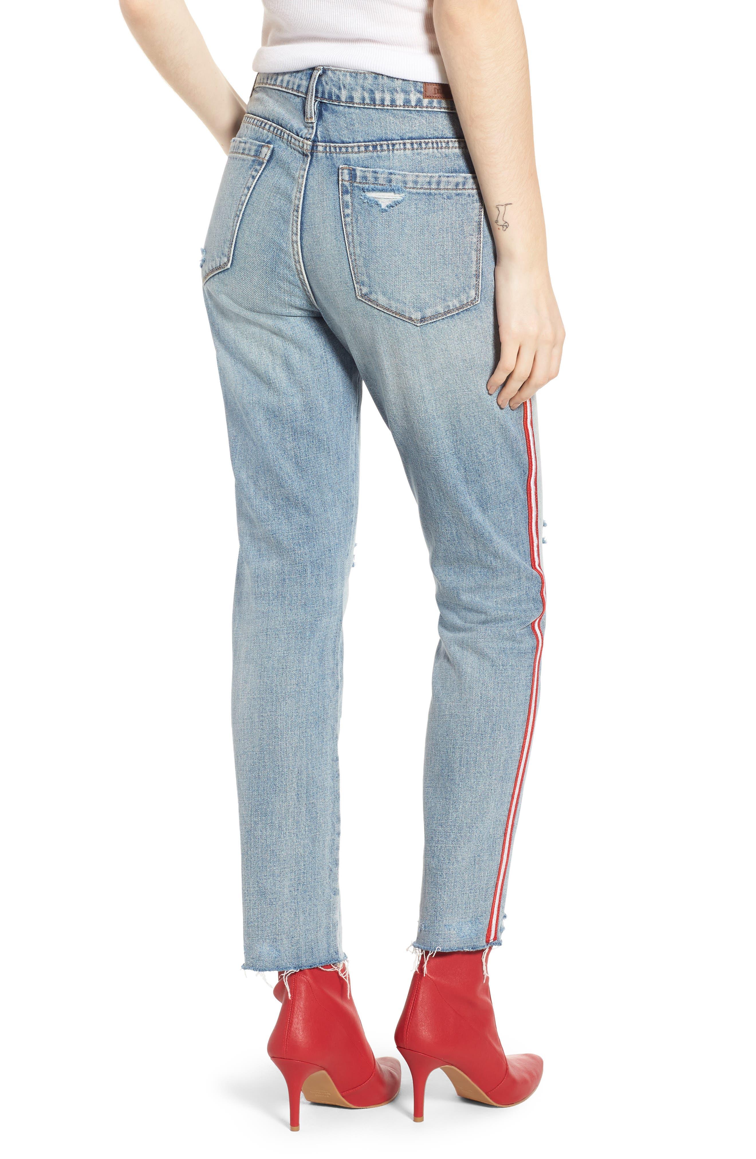 Now or Never Side Stripe Skinny Jeans,                             Alternate thumbnail 2, color,                             Blue
