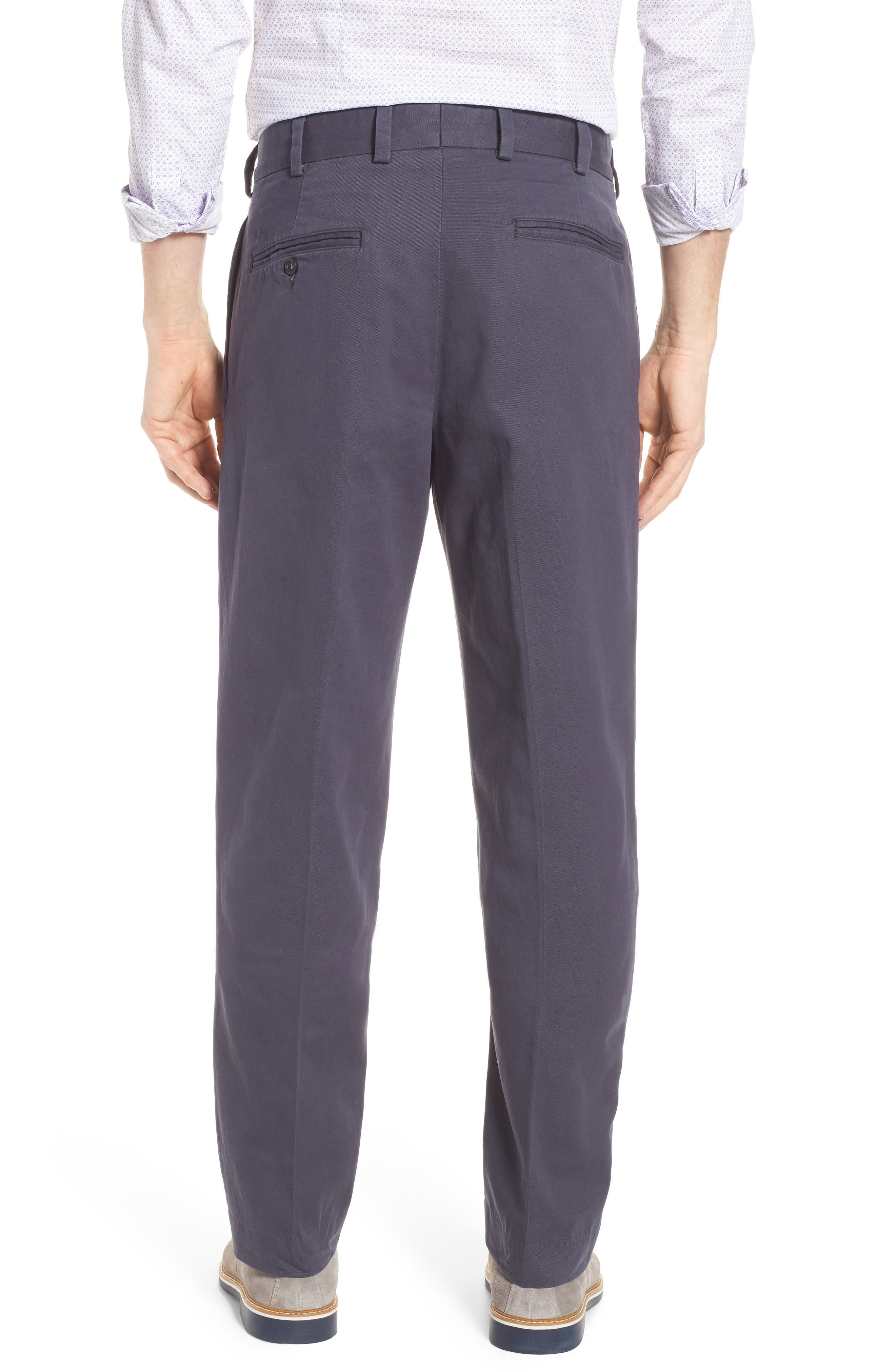 M2 Classic Fit Vintage Twill Pleated Pants,                             Alternate thumbnail 2, color,                             Navy