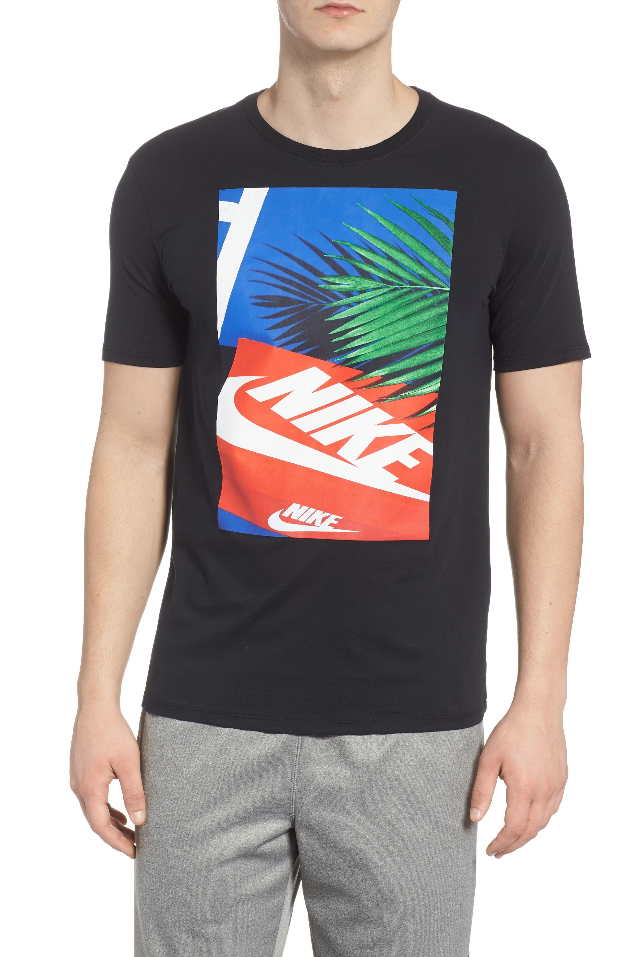 Sportswear Graphic T-Shirt,                             Main thumbnail 1, color,                             Black