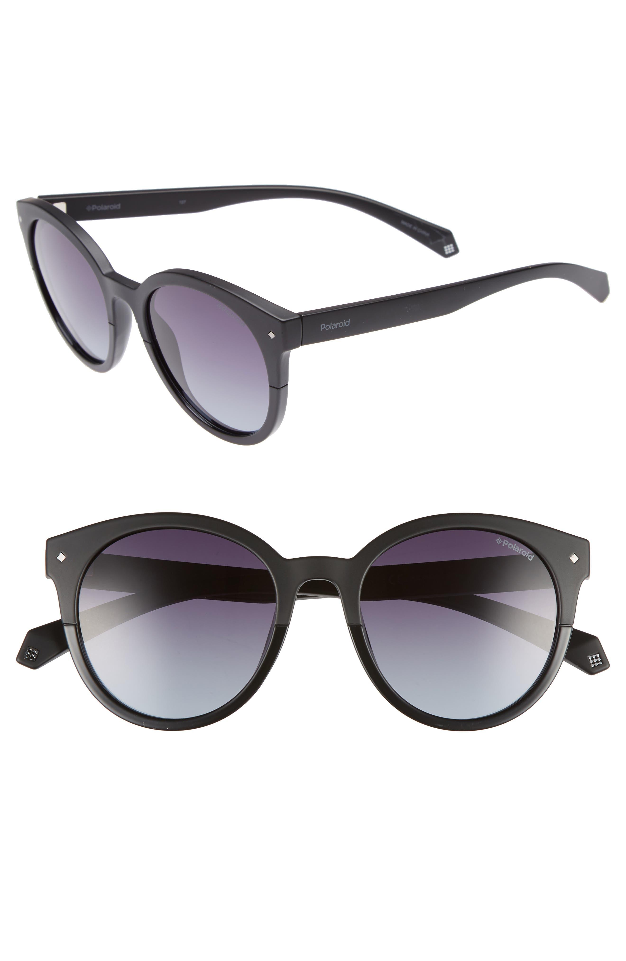 Basic 51mm Polarized Sunglasses,                             Main thumbnail 1, color,                             Black