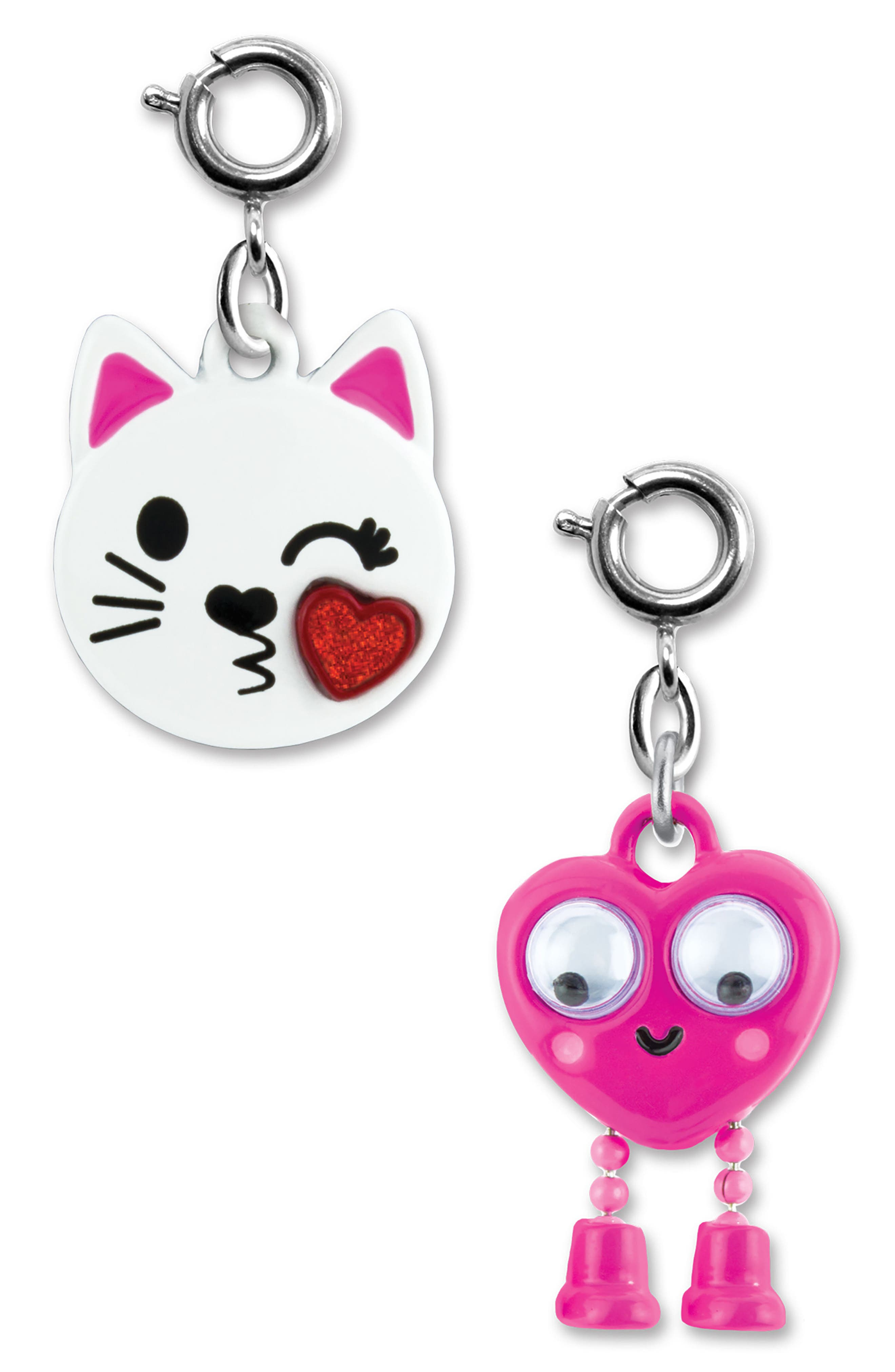 CHARM IT!<sup>®</sup> 2-Pack Kitty & Emoji Charms,                         Main,                         color, Multi