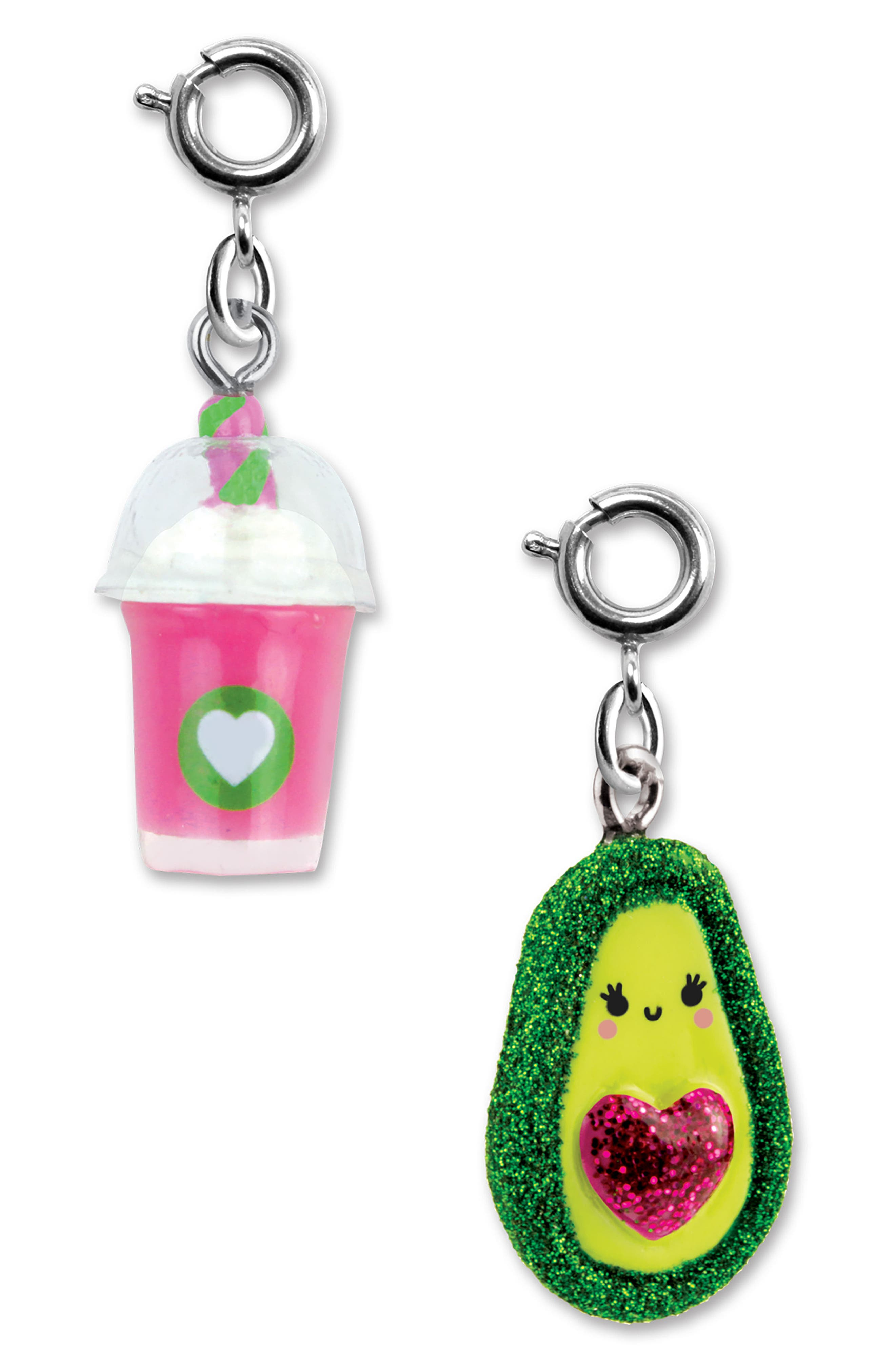 CHARM IT!<sup>®</sup> 2-Pack Smoothie & Avocado Charms,                             Alternate thumbnail 2, color,                             Multi