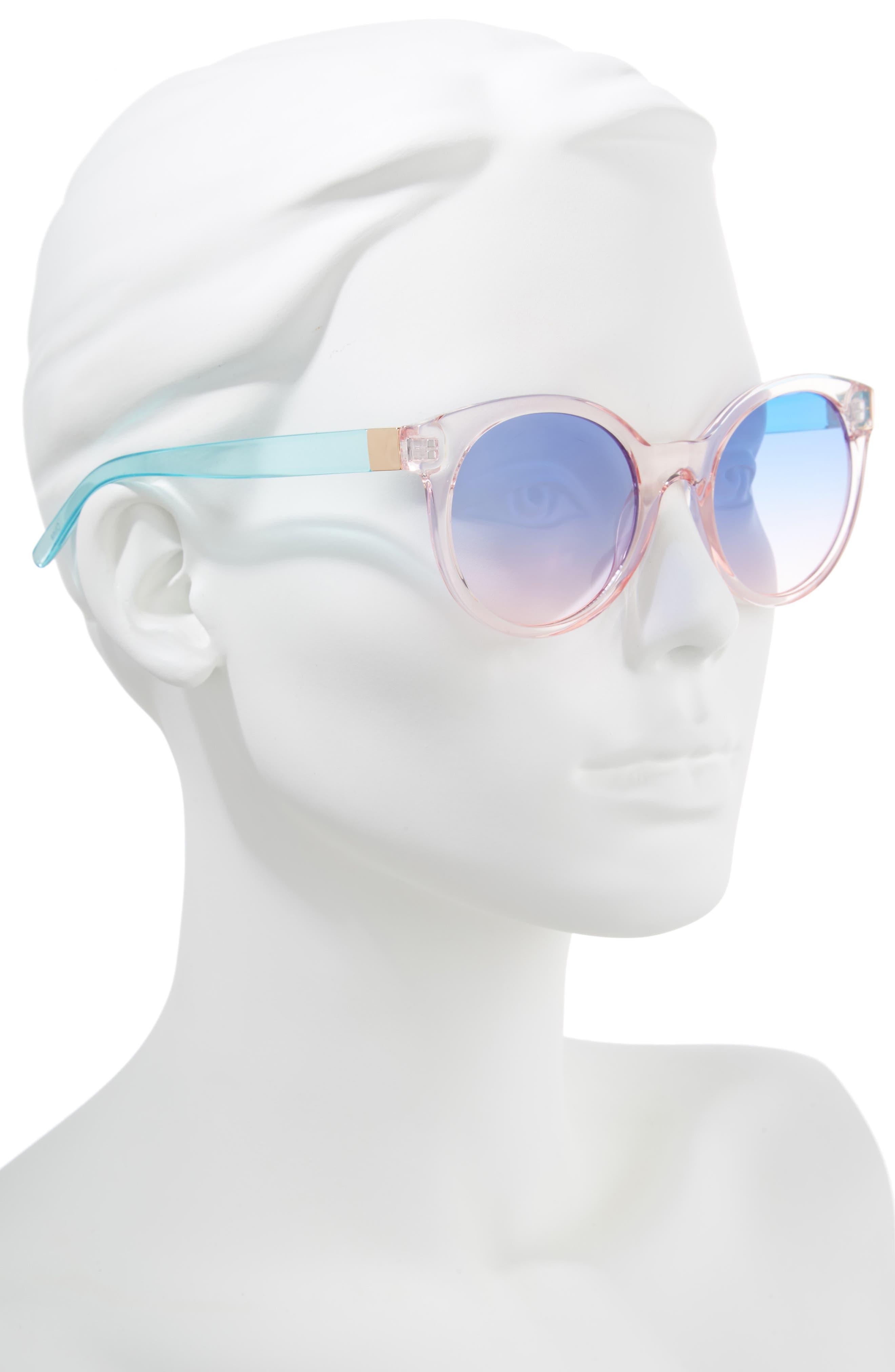 Transparent Round Sunglasses,                             Alternate thumbnail 2, color,                             Multi