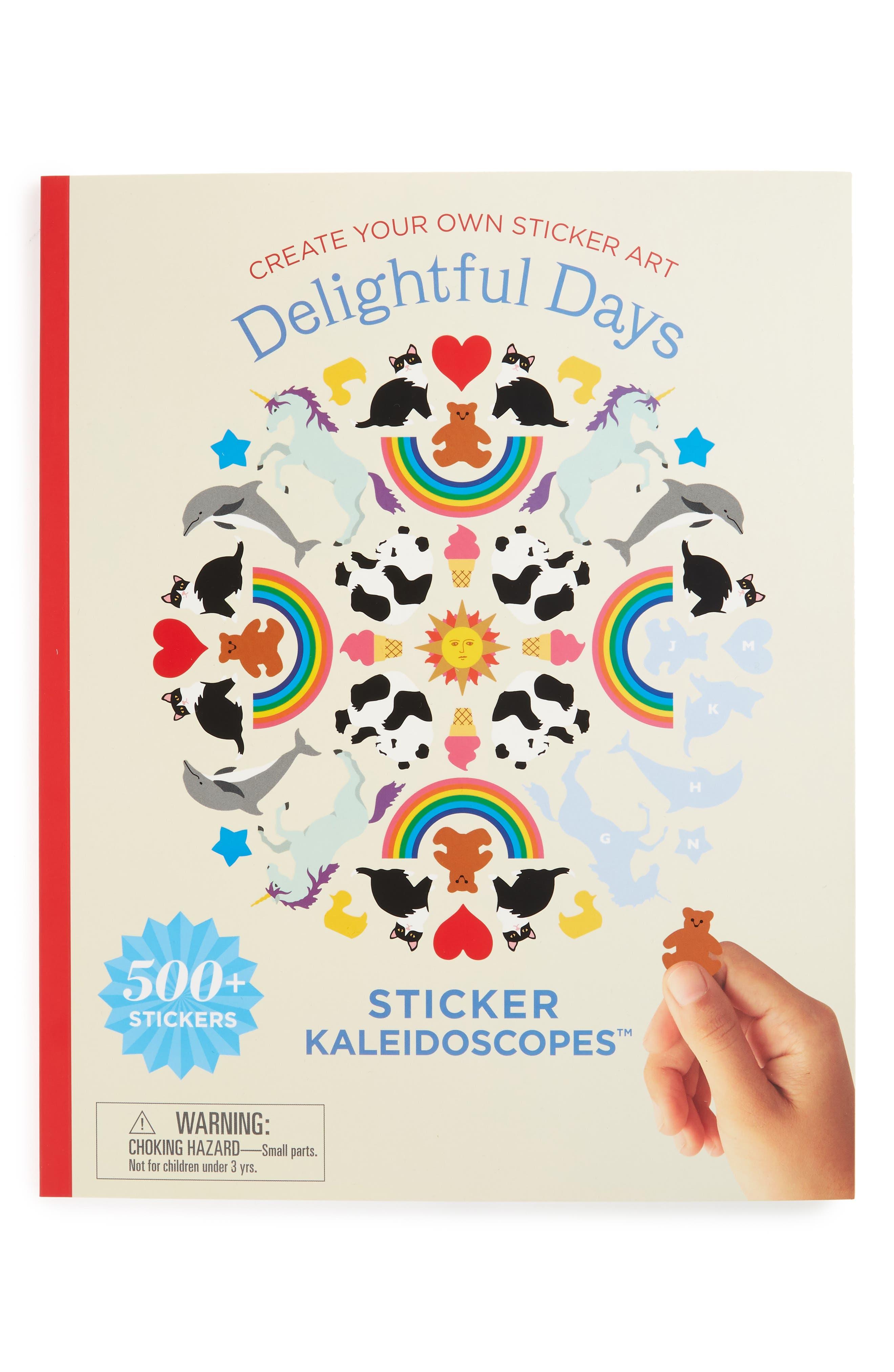Mrs. Grossman's Everyday Favorites Kaleidoscopes Sticker Book,                             Main thumbnail 1, color,                             Blue
