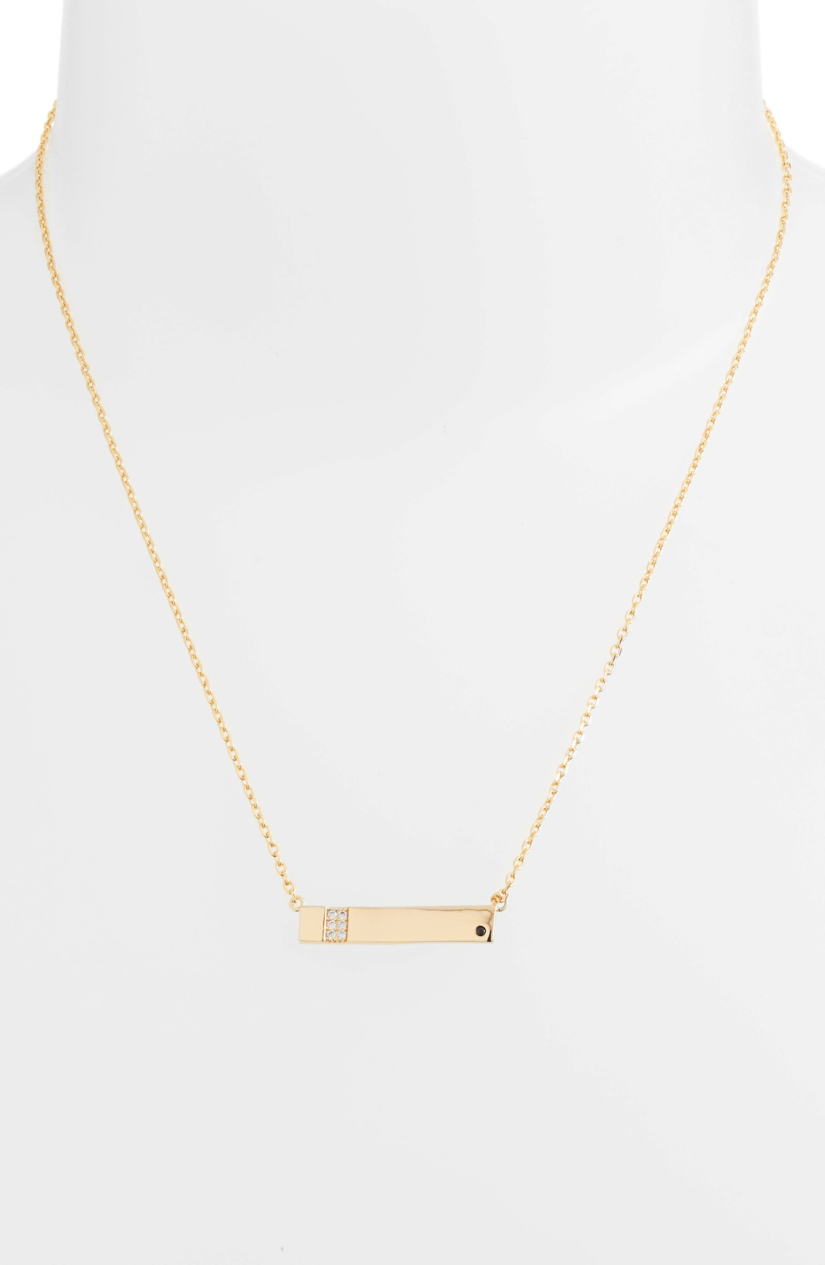 x We Wore What Horizontal Bar Necklace,                             Alternate thumbnail 2, color,                             Gold