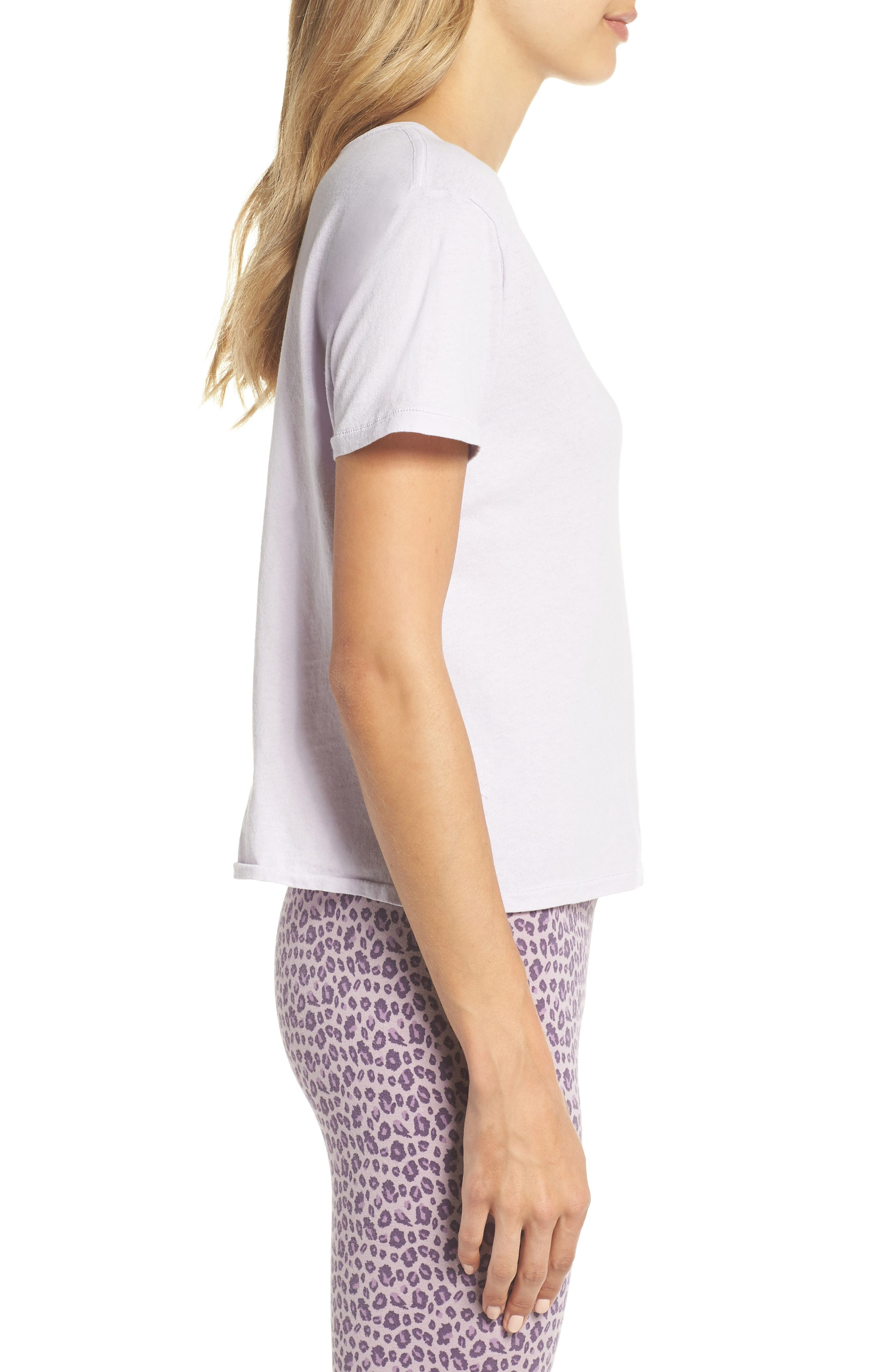 Crop Tee,                             Alternate thumbnail 3, color,                             Lilac