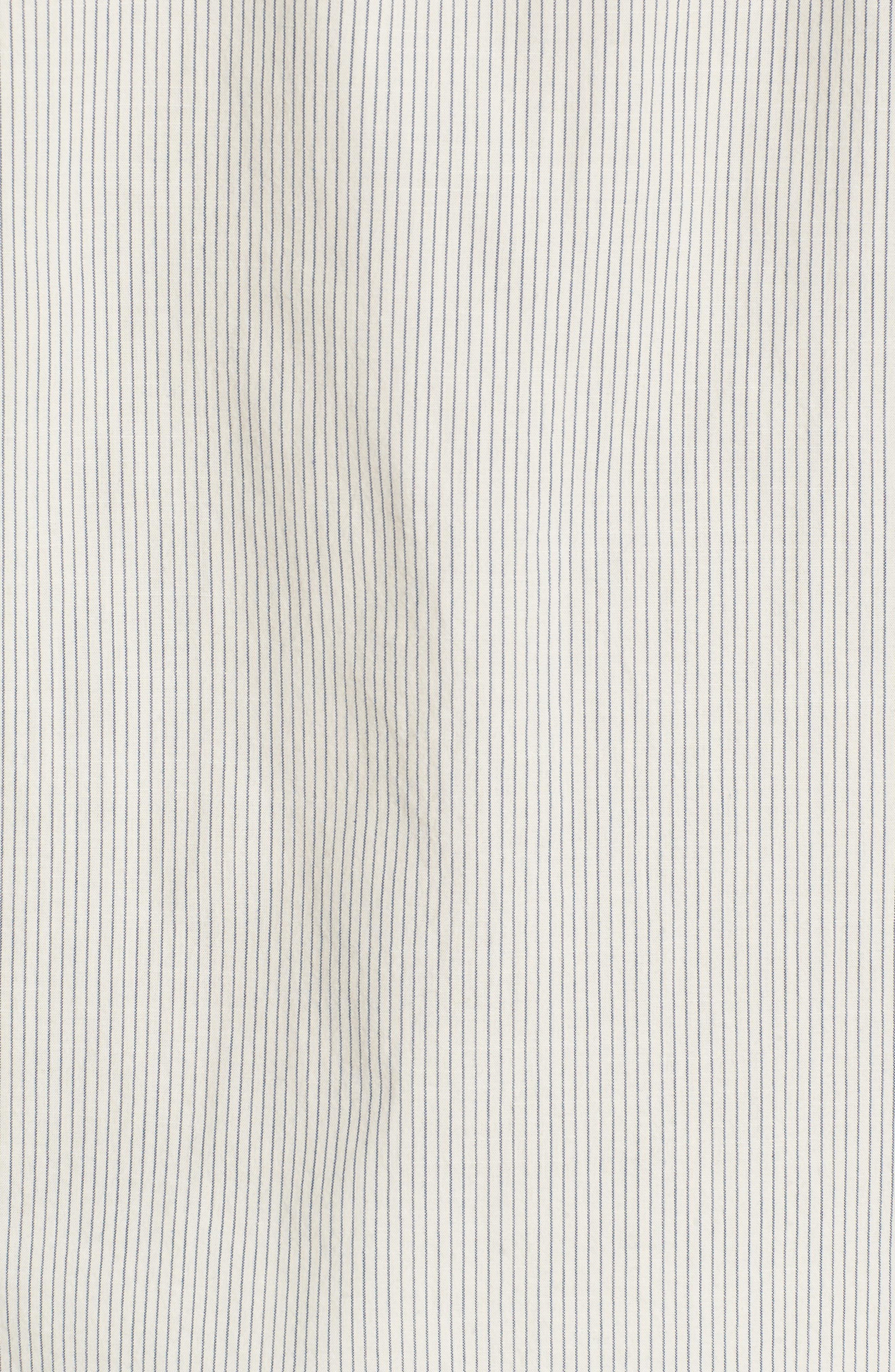 Colton Regular Fit Stripe Sport Shirt,                             Alternate thumbnail 5, color,                             Natural/Mosaic Blue