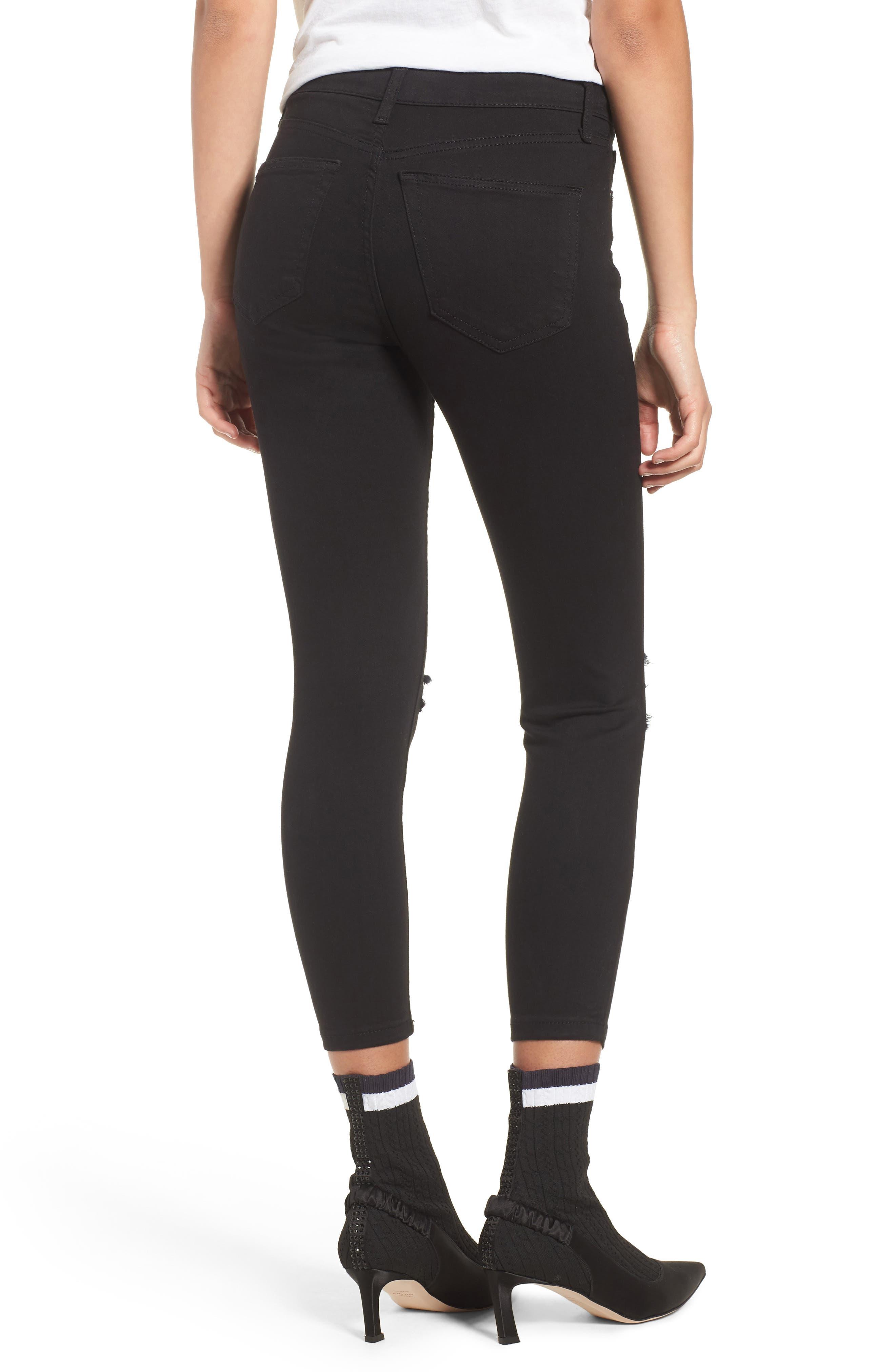 Jamie Ripped Jeans,                             Alternate thumbnail 2, color,                             Black