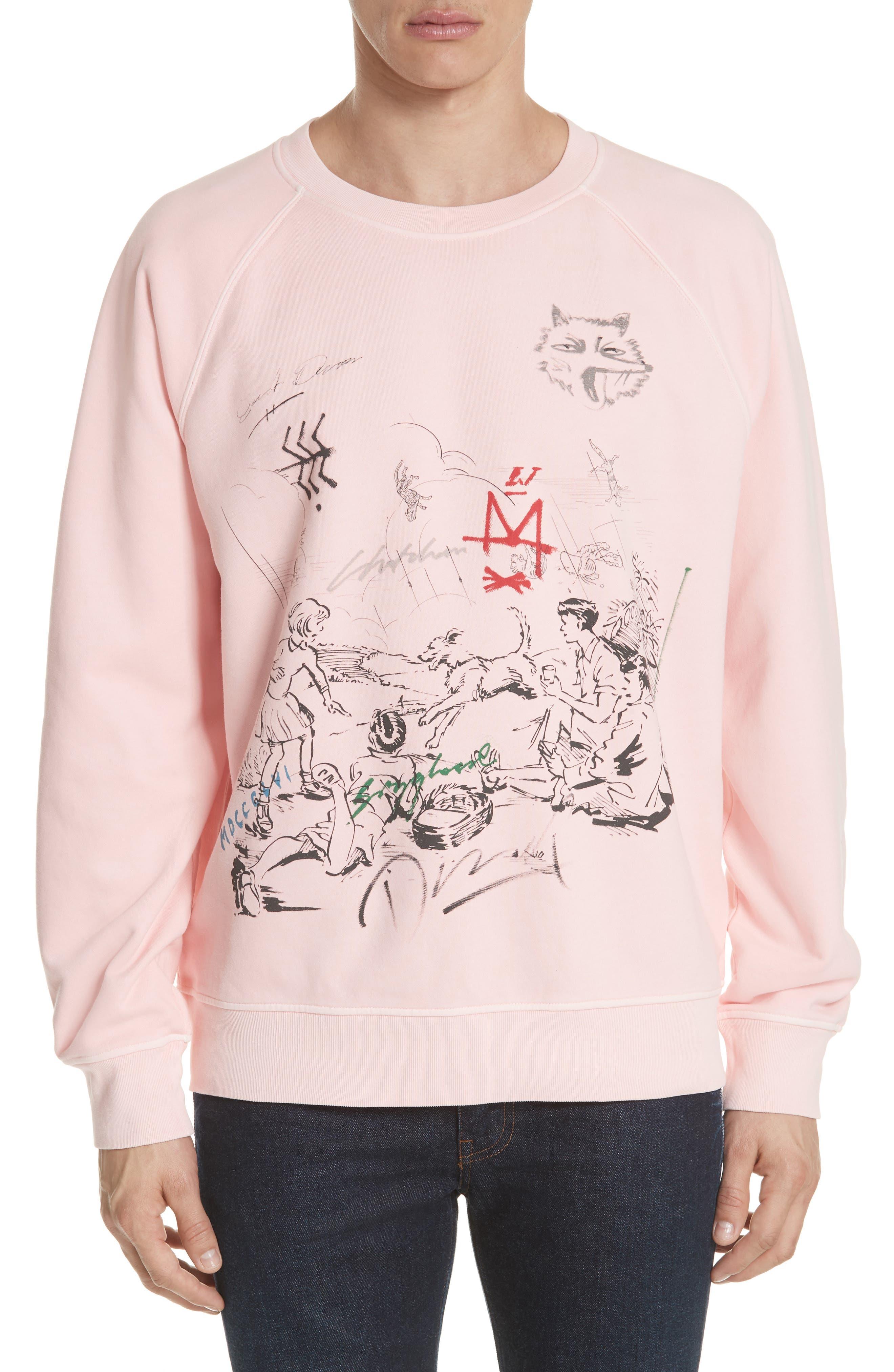 Fellworth Graphic Crewneck Sweatshirt,                         Main,                         color, Light Pink