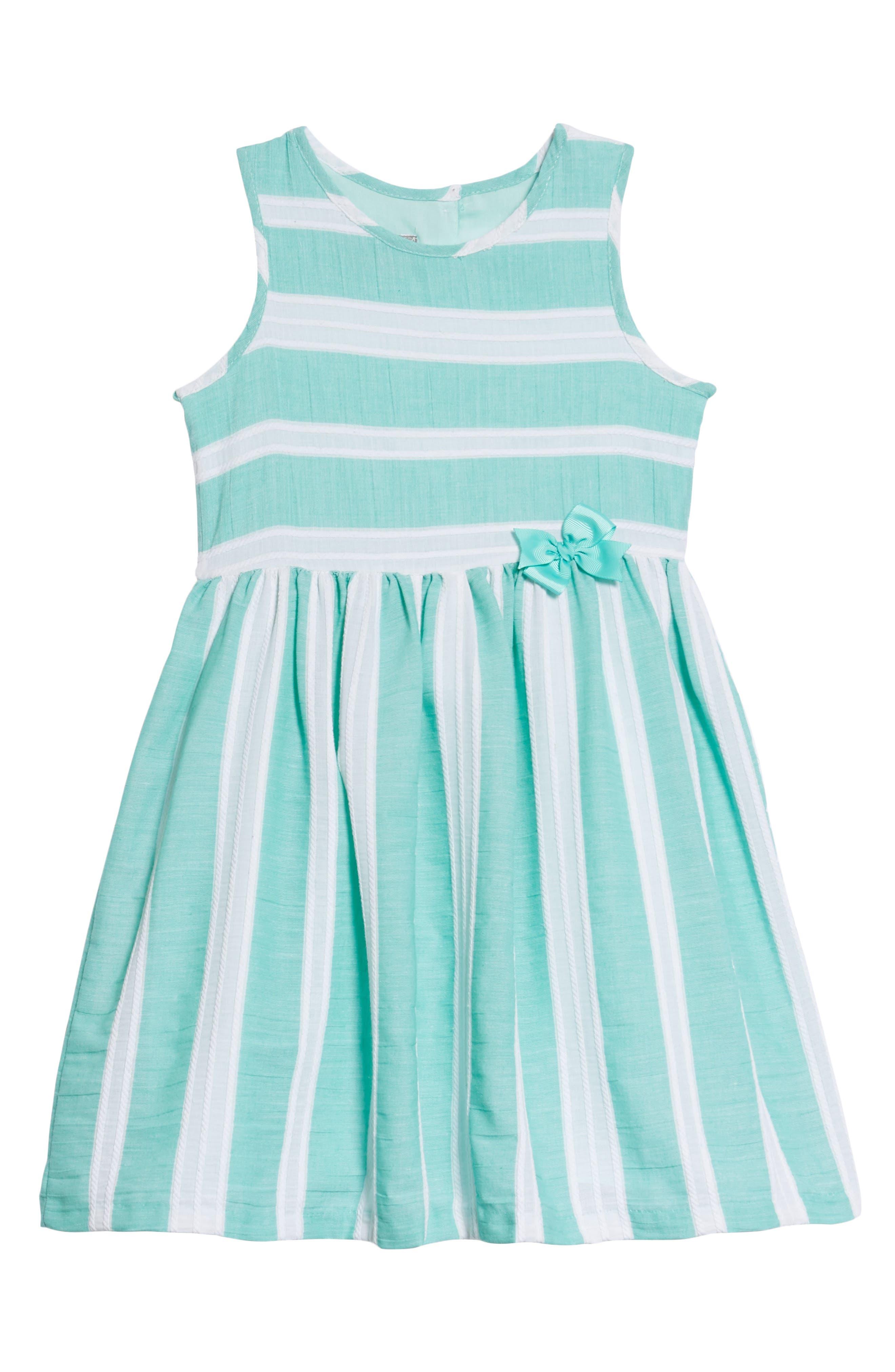 Stripe Dress,                             Main thumbnail 1, color,                             Green/ White