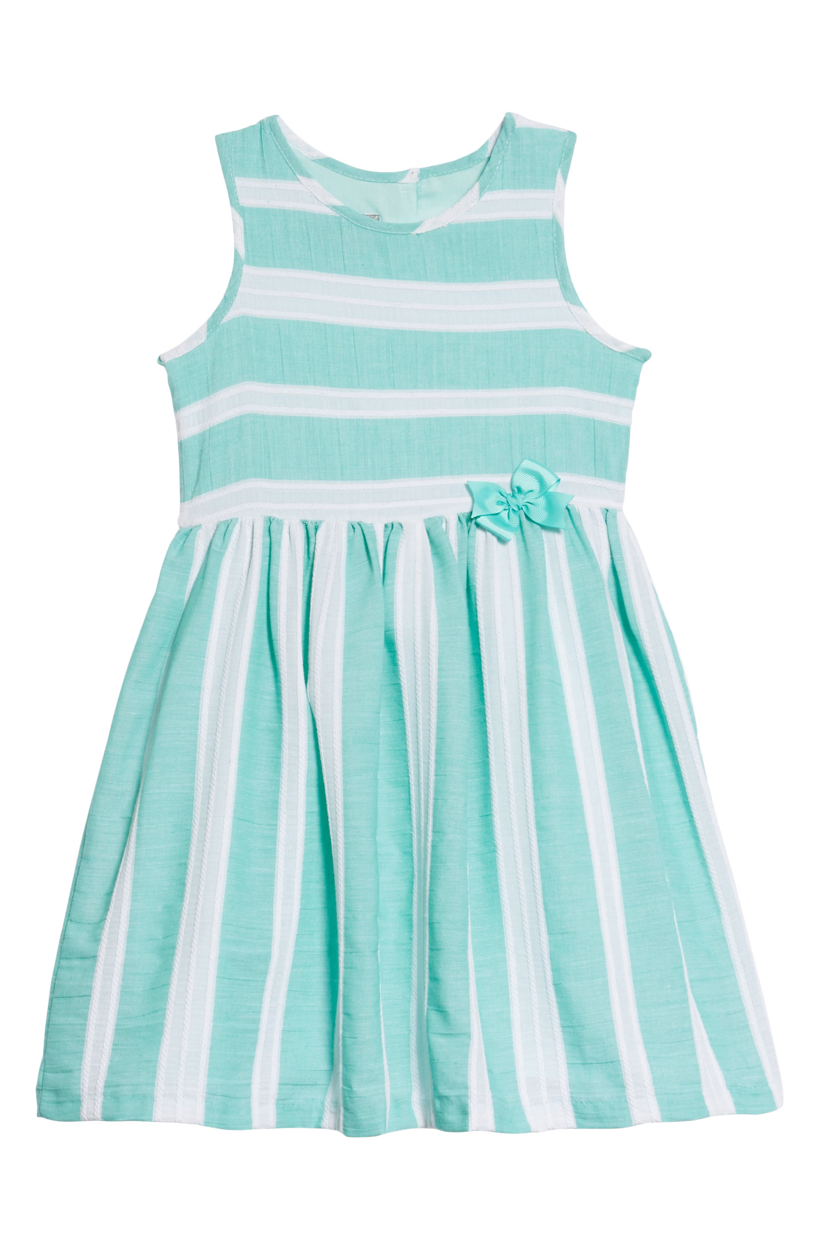 Stripe Dress,                         Main,                         color, Green/ White