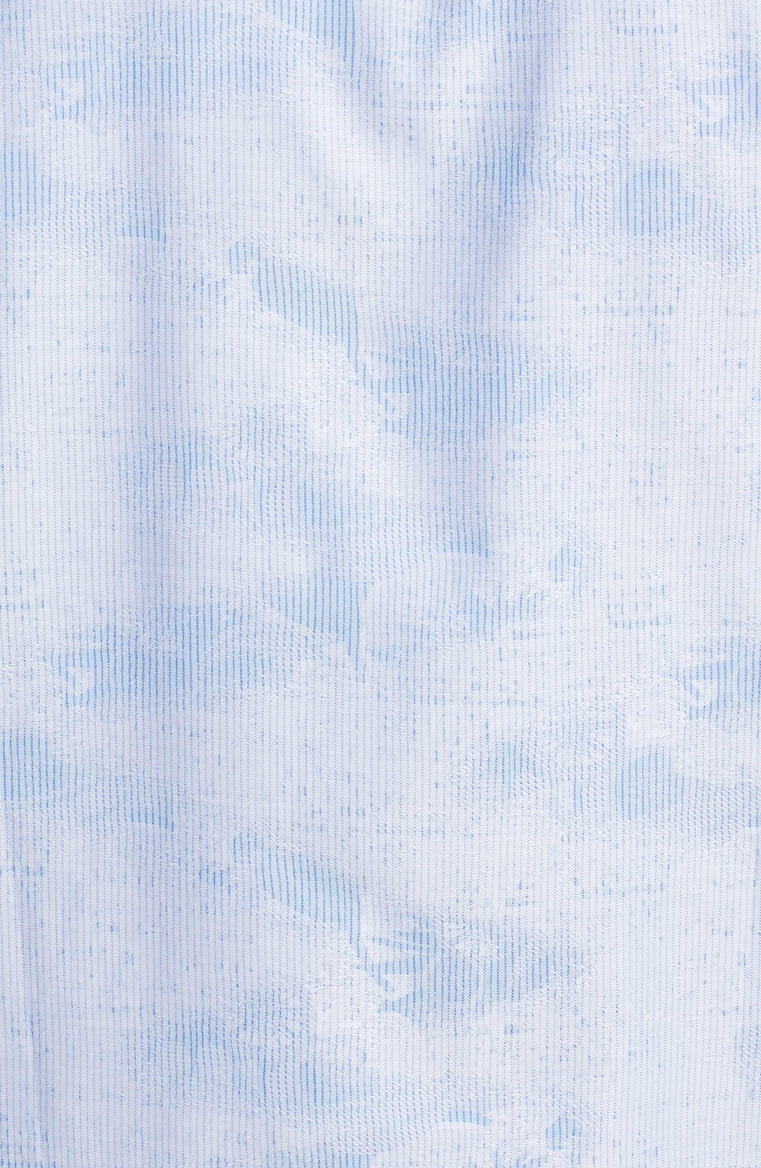Woven Sport Shirt,                             Alternate thumbnail 5, color,                             Sky