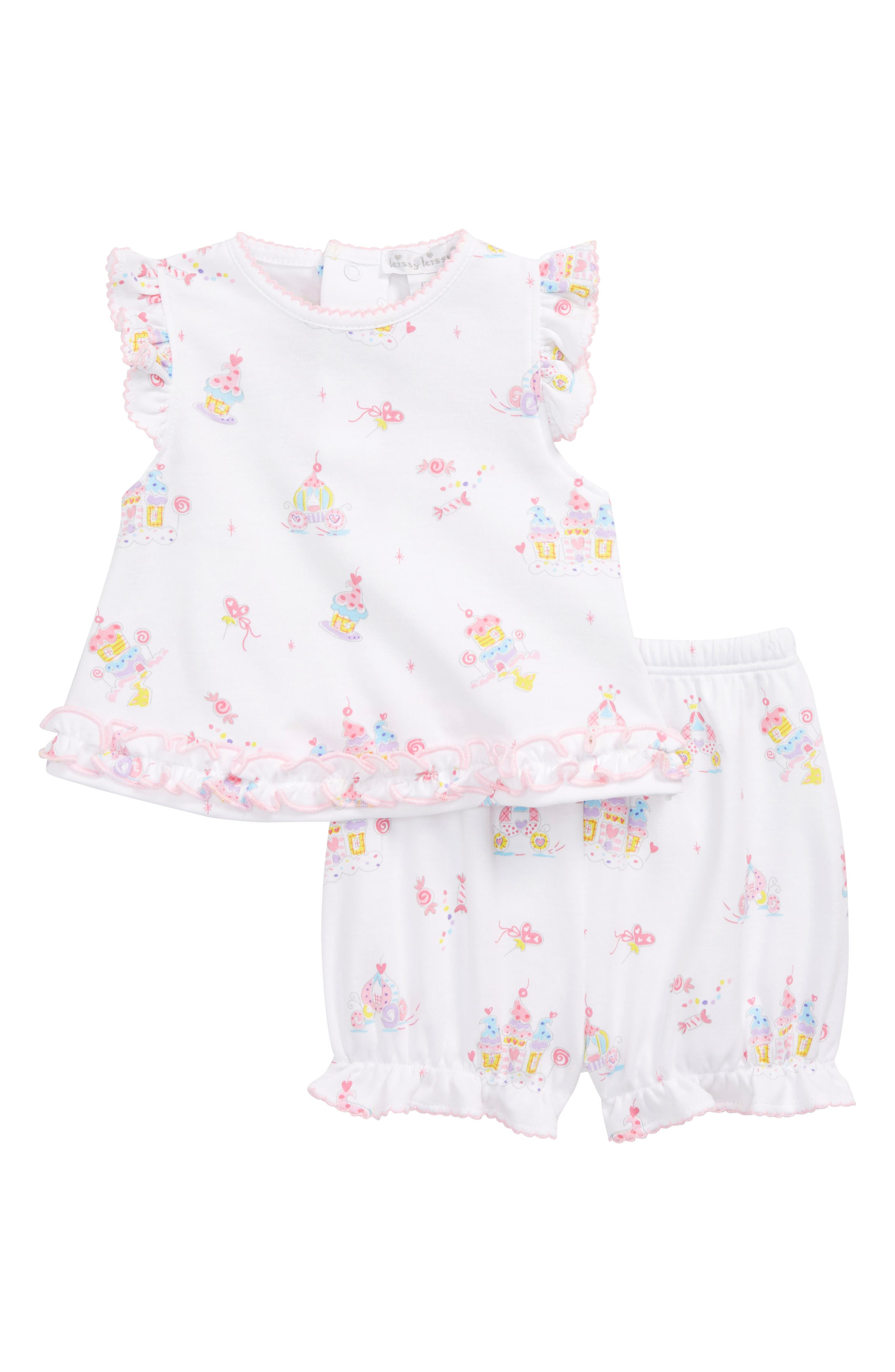 Kissy Kissy Candy Castles Top & Shorts Set (Baby Girls)
