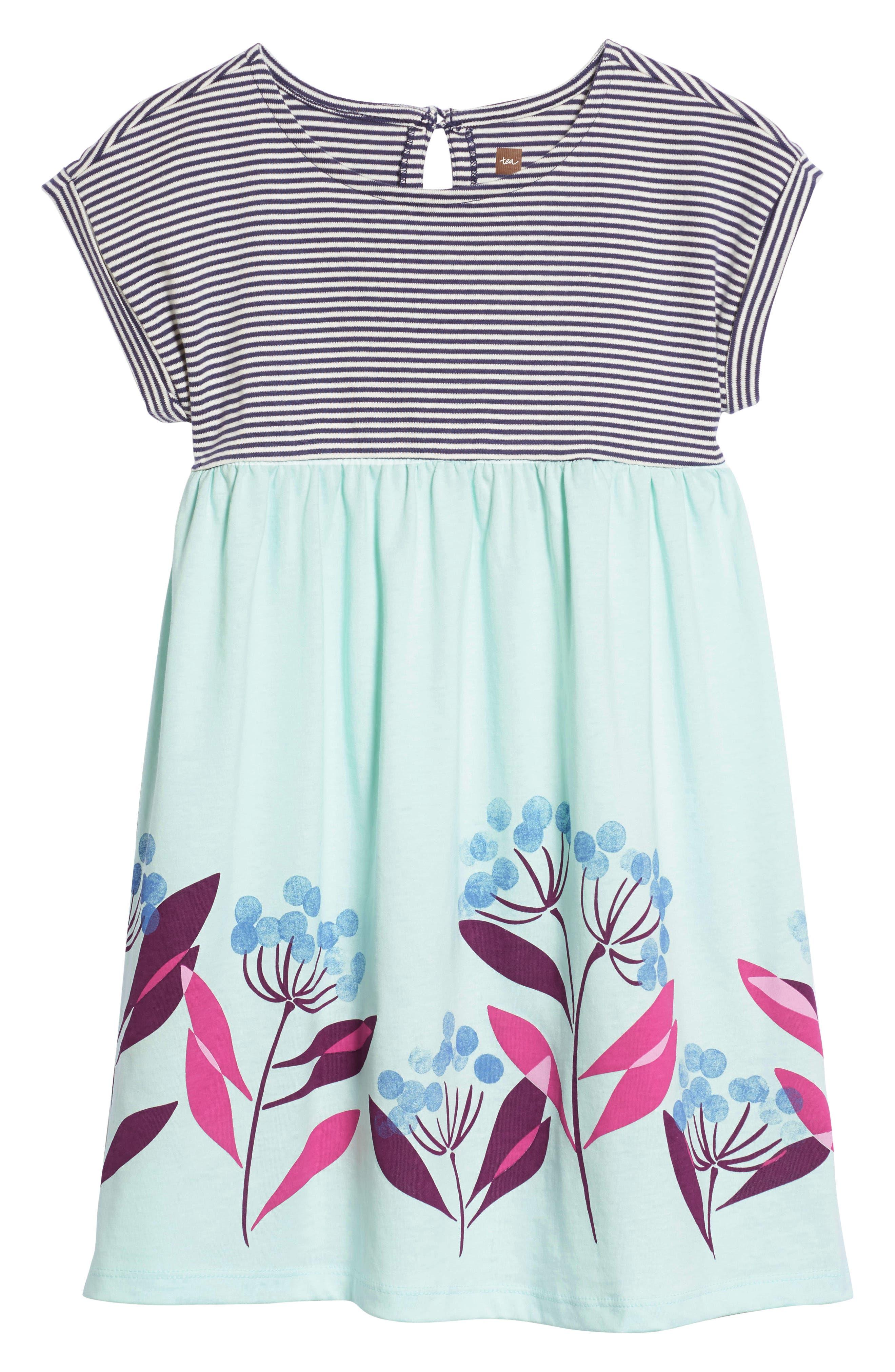 Tea Collection Floral Empire Waist Dress (Toddler Girls, Little Girls & Big Girls)