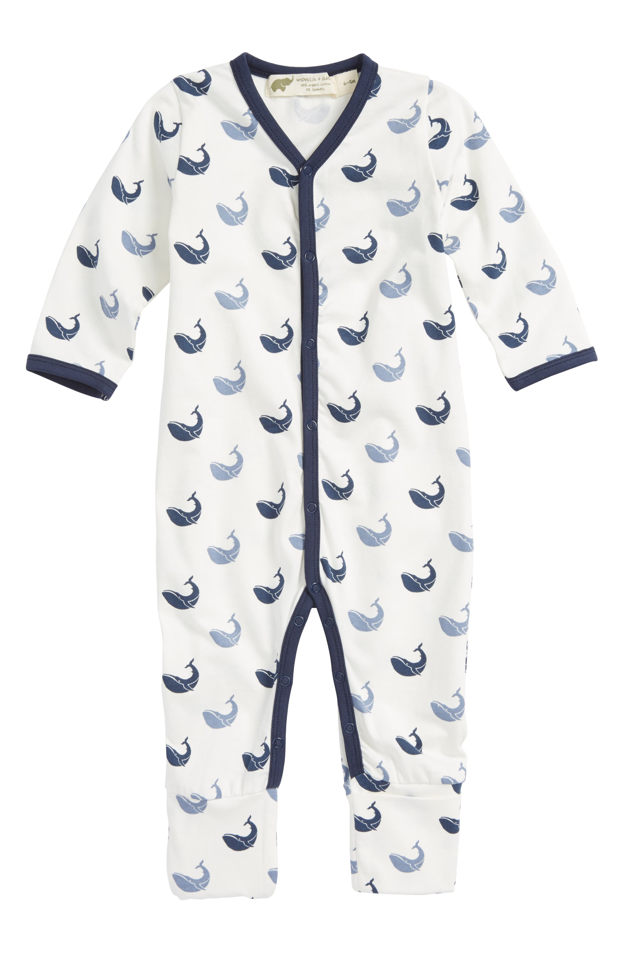 Monica + Andy Lullaby Organic Cotton Blend Footie (Baby)