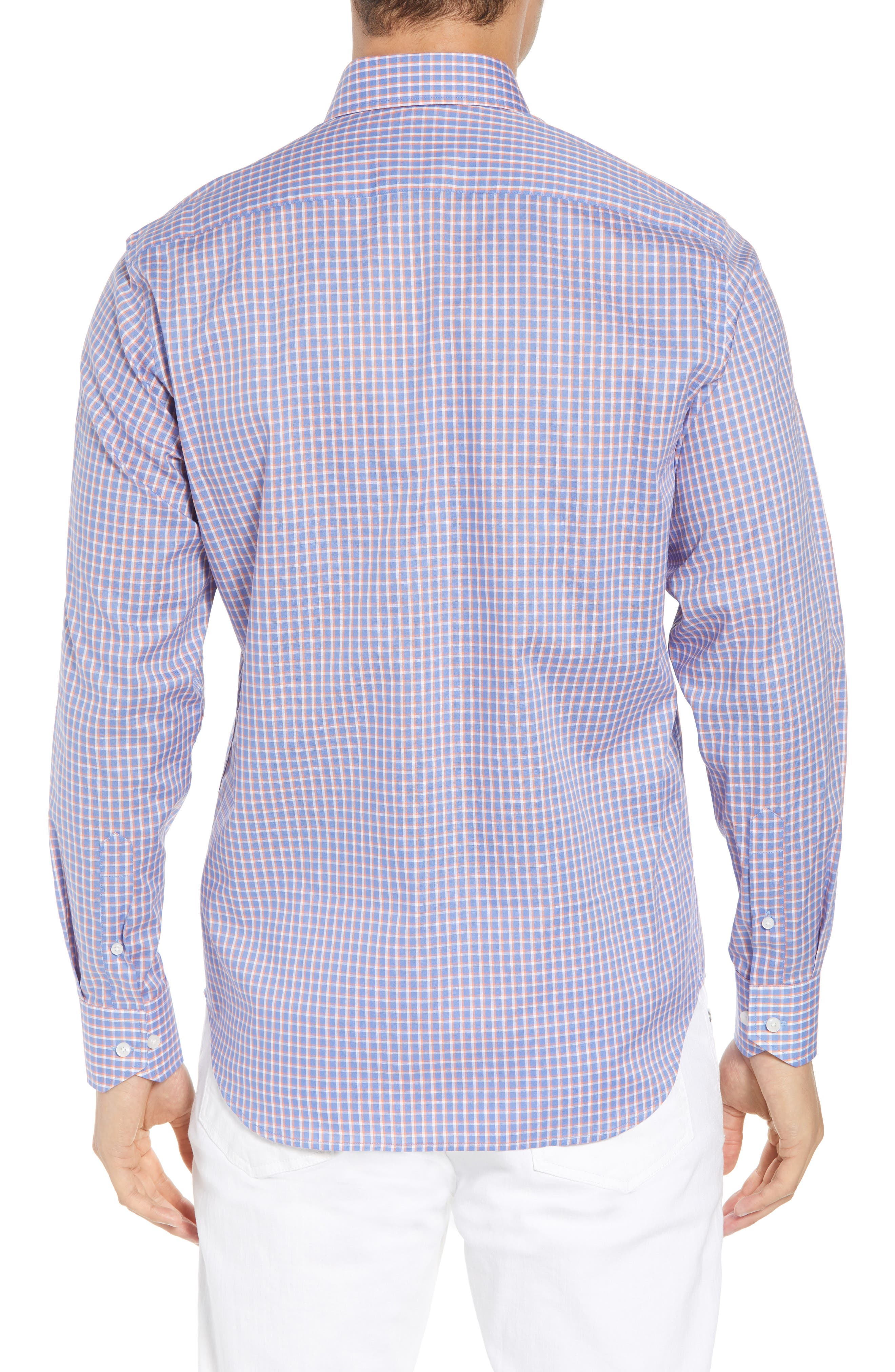 Bader Regular Fit Check Sport Shirt,                             Alternate thumbnail 3, color,                             Navy