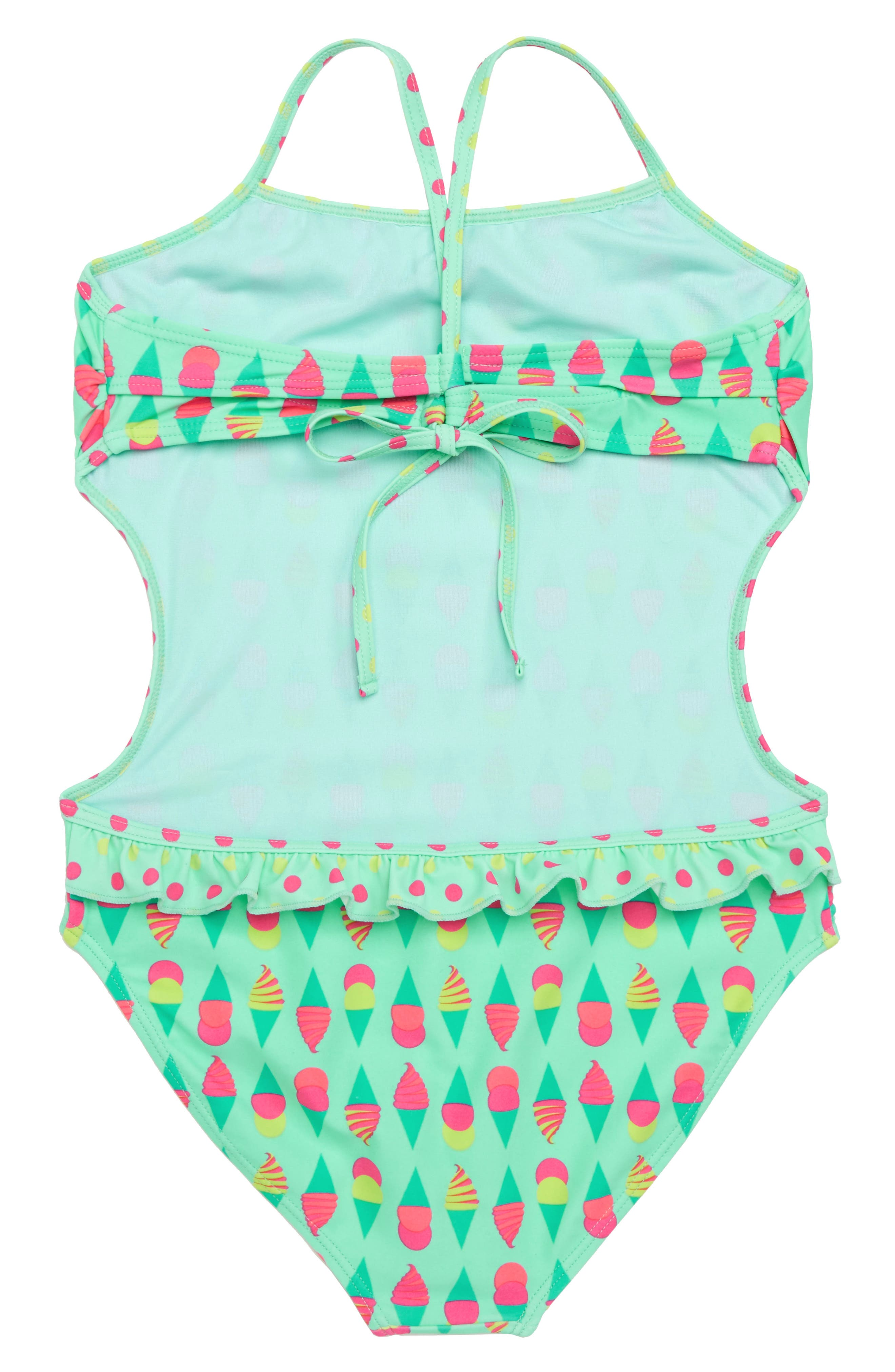 Print Side Cutout One-Piece Swimsuit,                             Alternate thumbnail 2, color,                             Multi