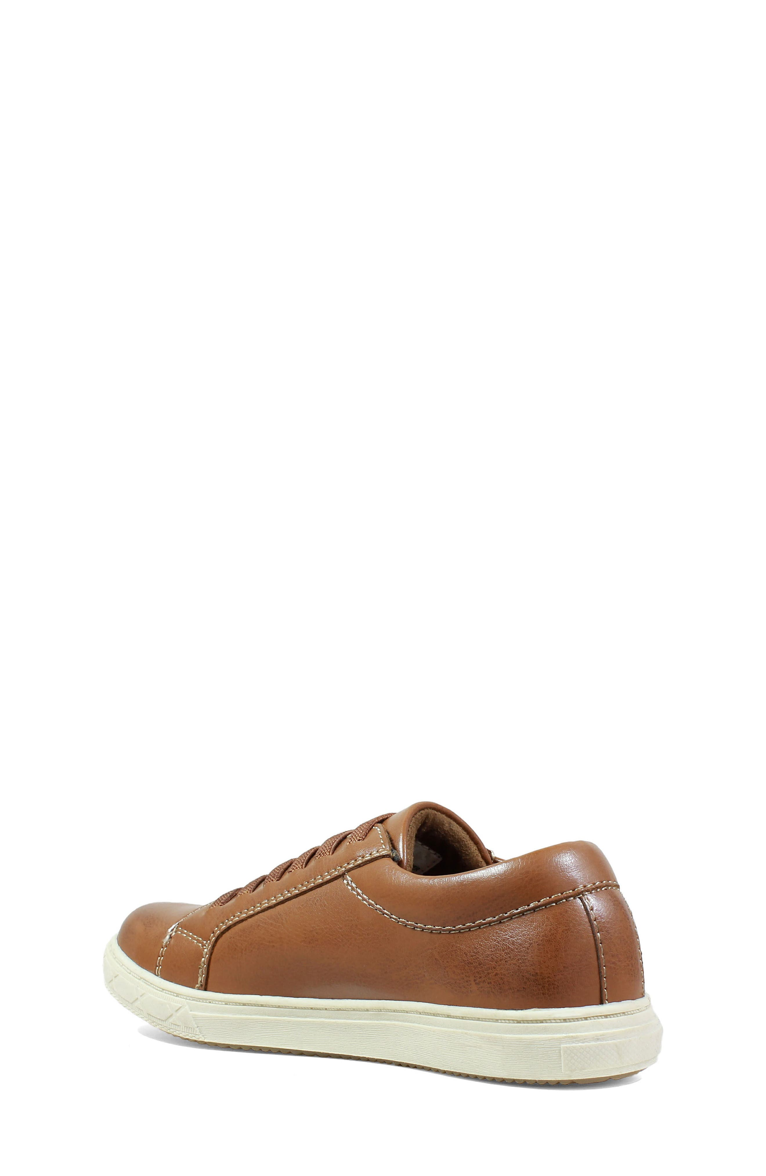 Curb Elastic Lace Sneaker,                             Alternate thumbnail 2, color,                             Cognac