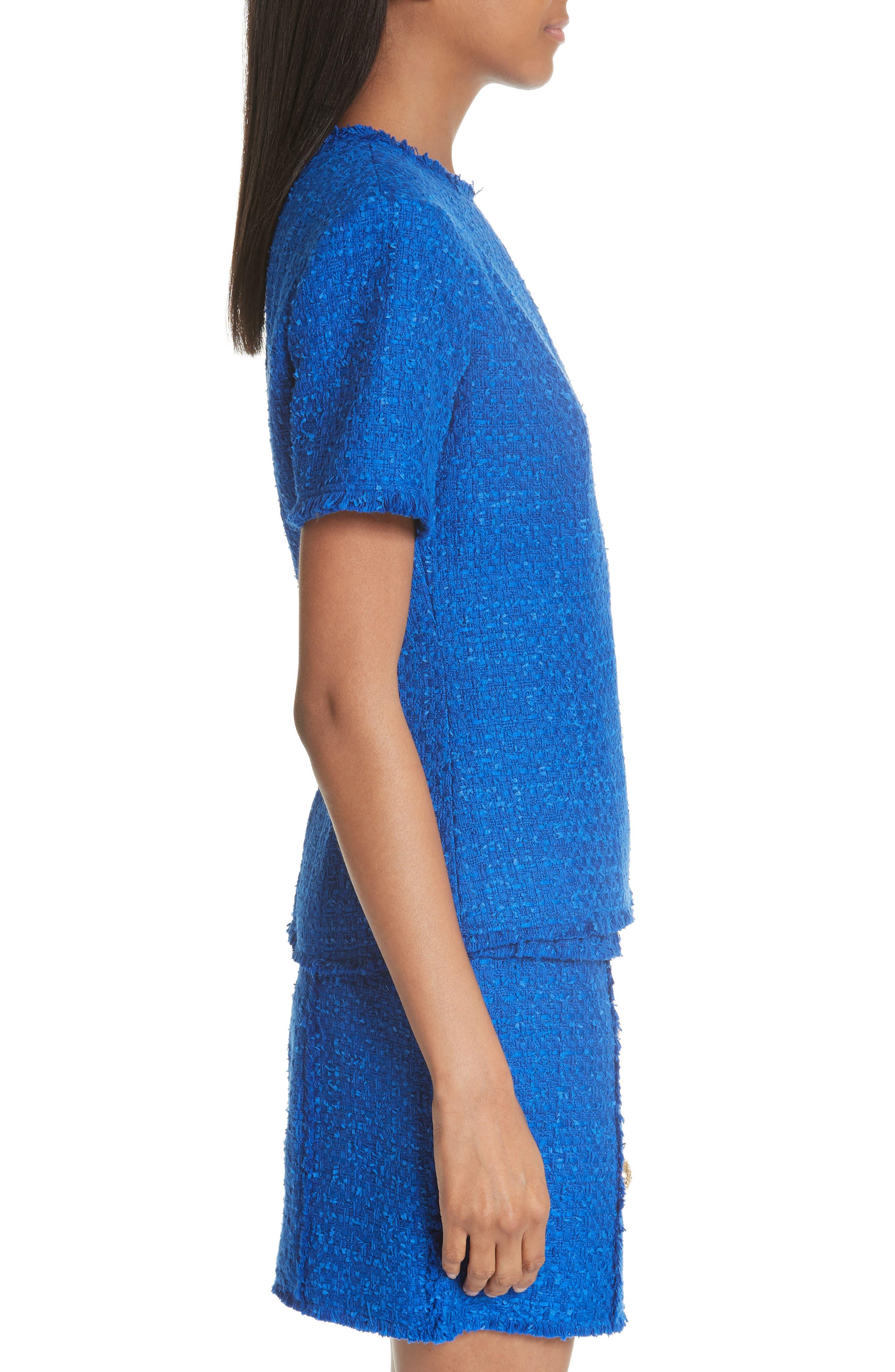 Alternate Image 3  - Balmain Button Shoulder Tweed Top