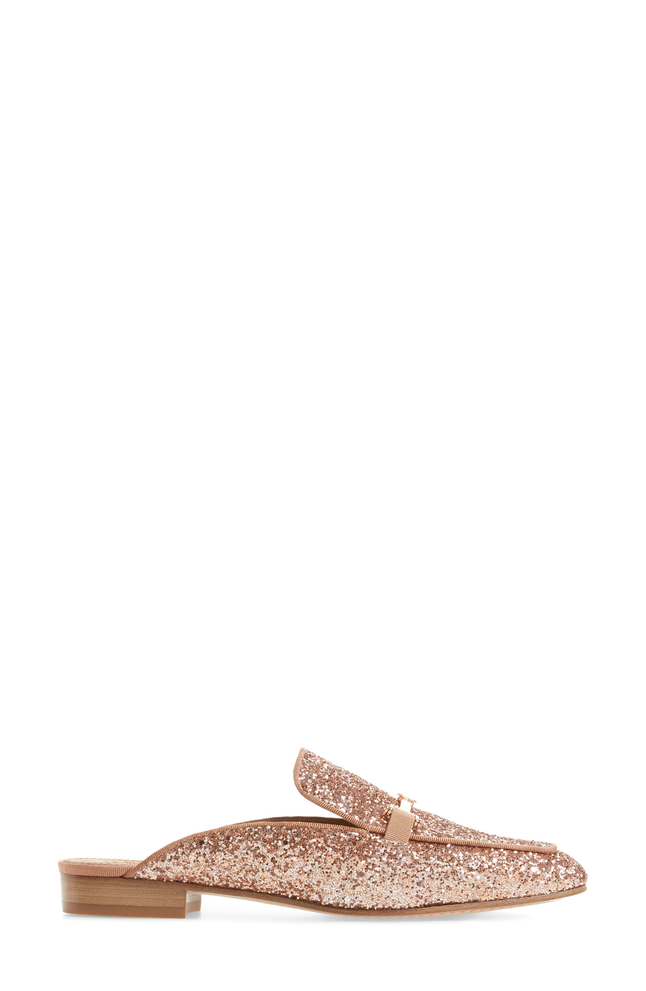 Amelia Loafer Mule,                             Alternate thumbnail 3, color,                             Rose Gold/ Rose Gold