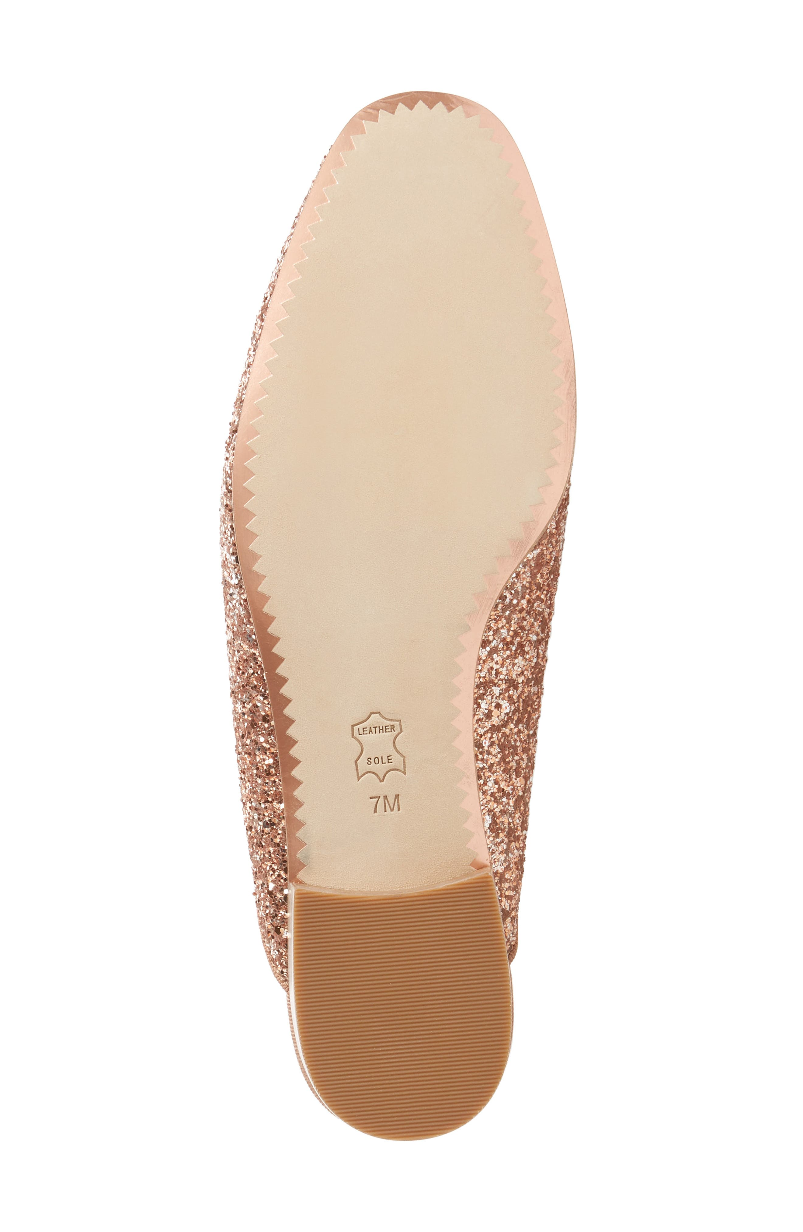 Amelia Loafer Mule,                             Alternate thumbnail 6, color,                             Rose Gold/ Rose Gold
