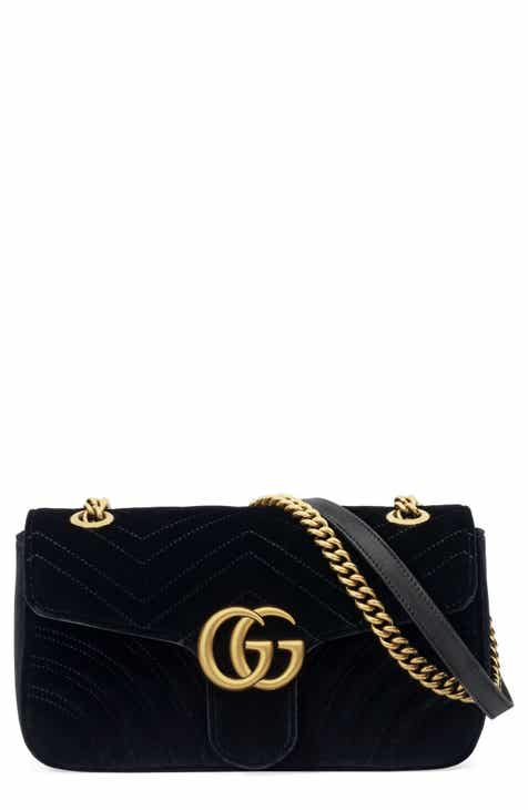 661dbb1fa8cc Gucci Medium GG Marmont 2.0 Matelassé Velvet Shoulder Bag