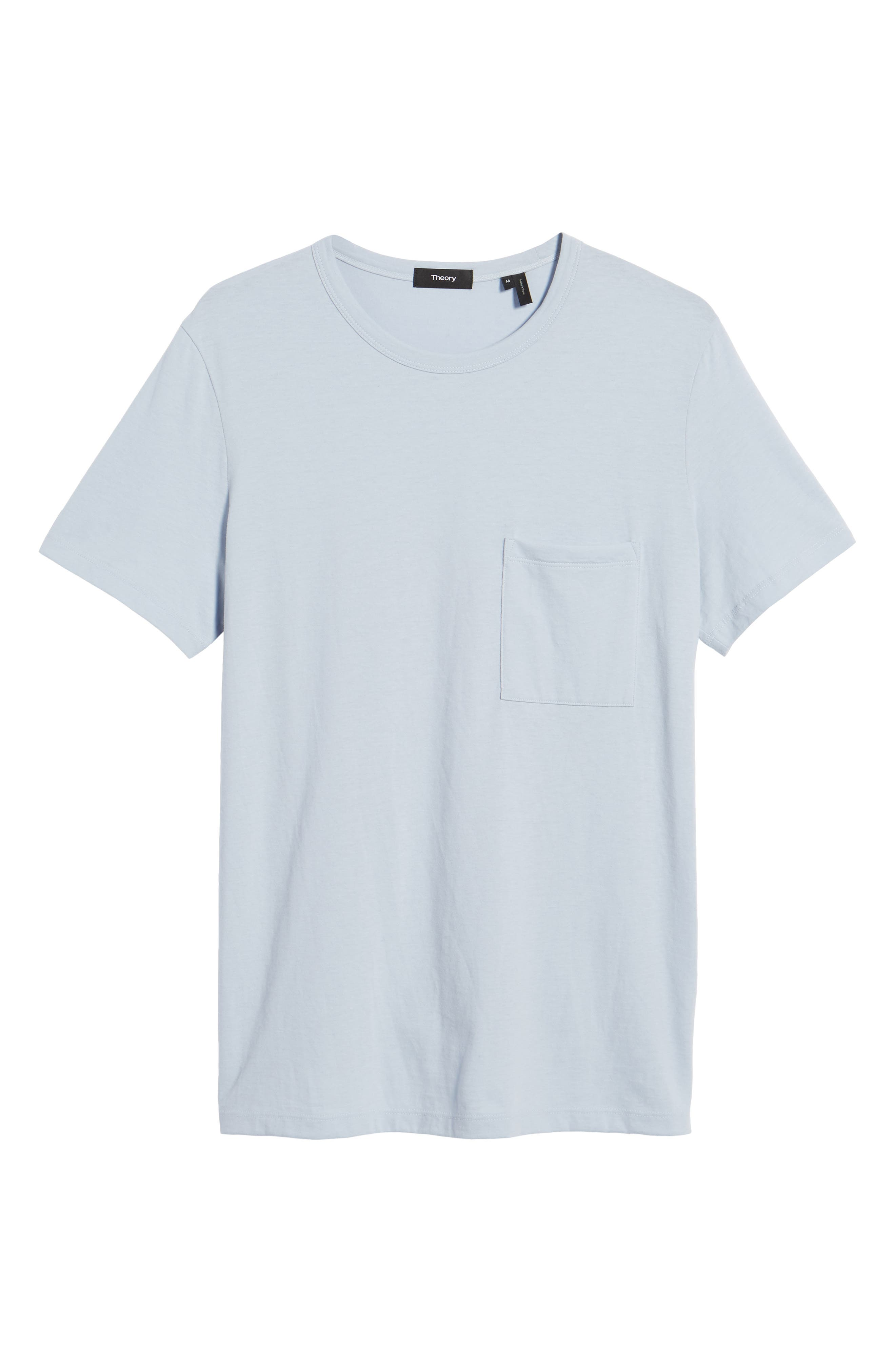 Essential Pocket T-Shirt,                             Alternate thumbnail 3, color,                             Glacier