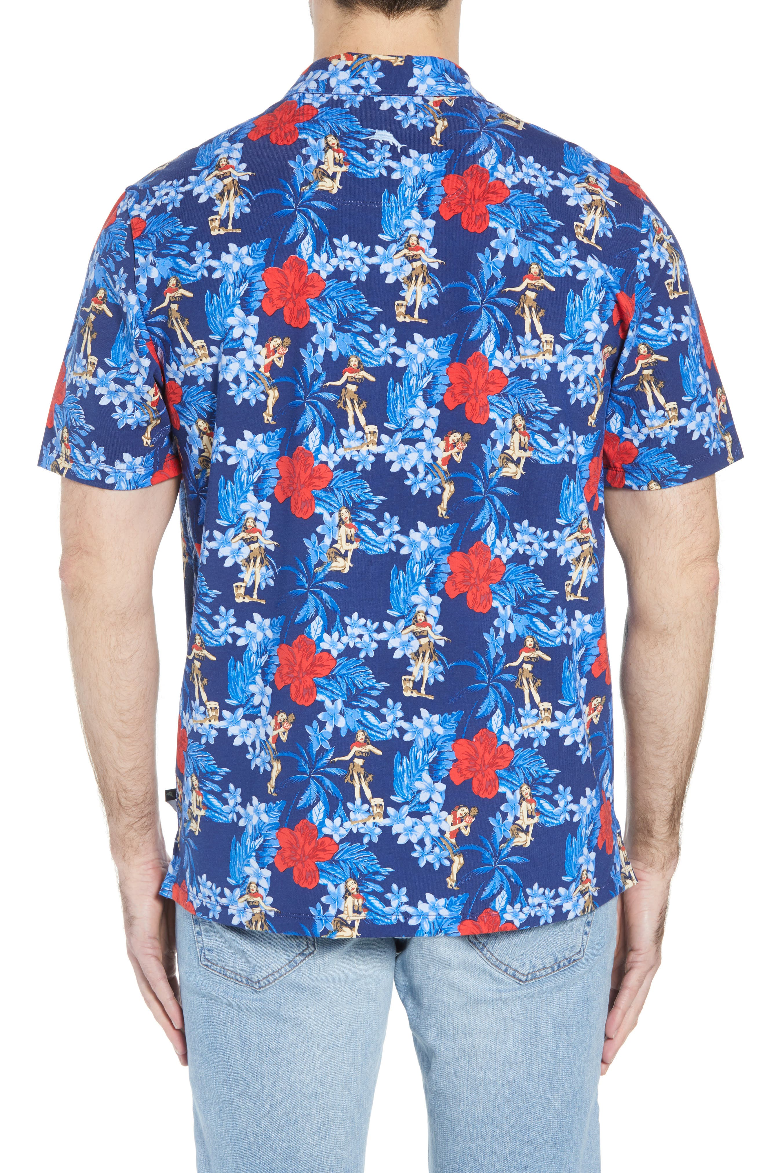 Hula Holiday Jersey Polo,                             Alternate thumbnail 2, color,                             Throne Blue