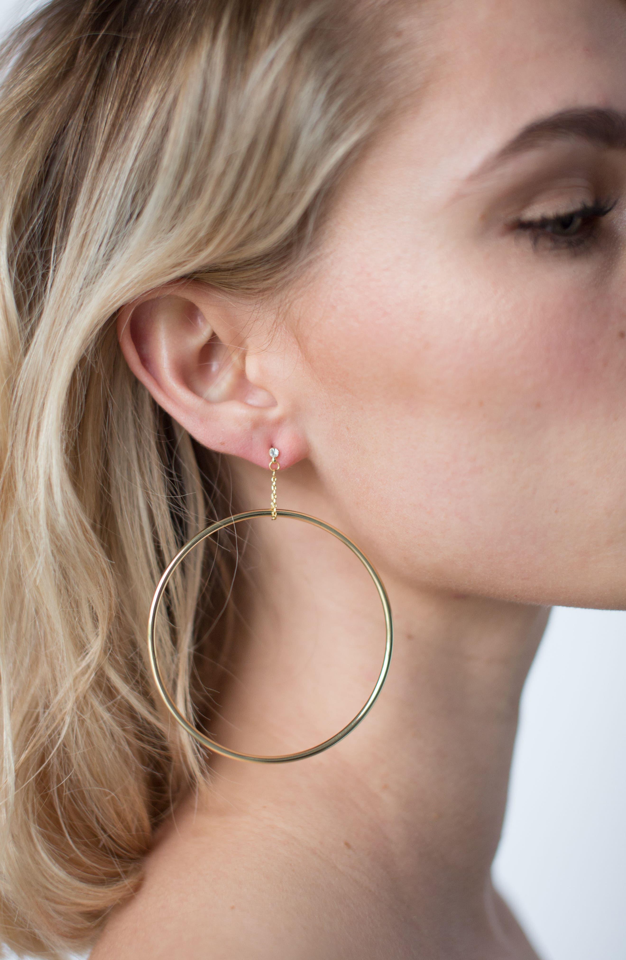 Kingsley Hoop Earrings,                             Alternate thumbnail 2, color,                             Gold