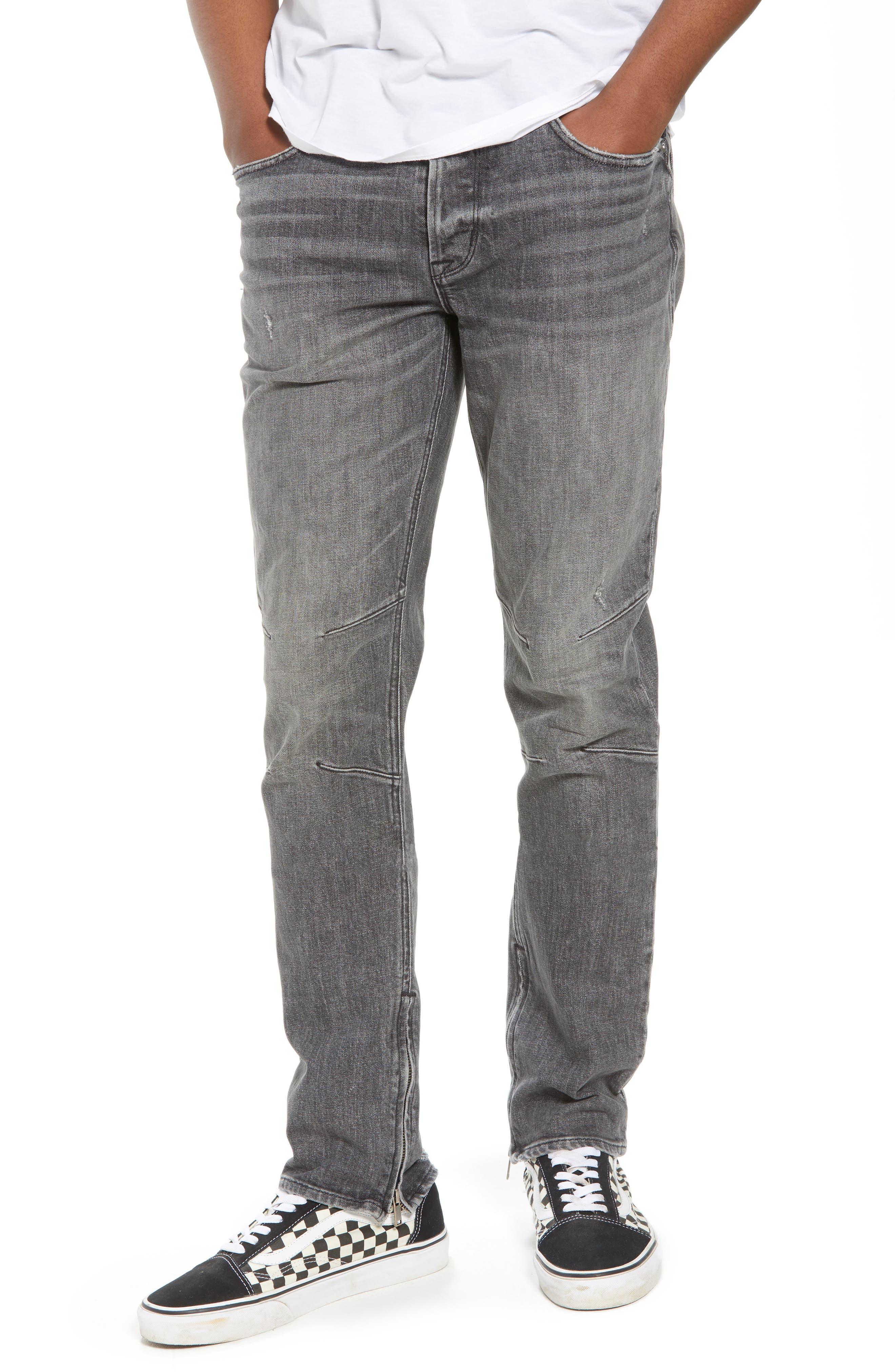 Vaughn Biker Skinny Fit Jeans,                             Main thumbnail 1, color,                             Kingpin