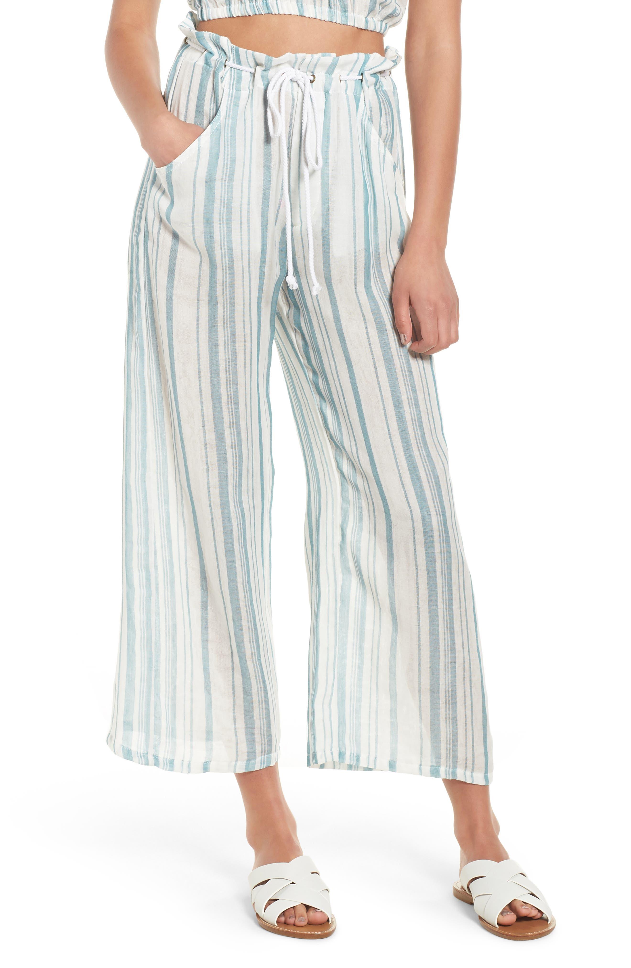 Peterson Wide Leg Pants,                         Main,                         color, Point Dume Stripe