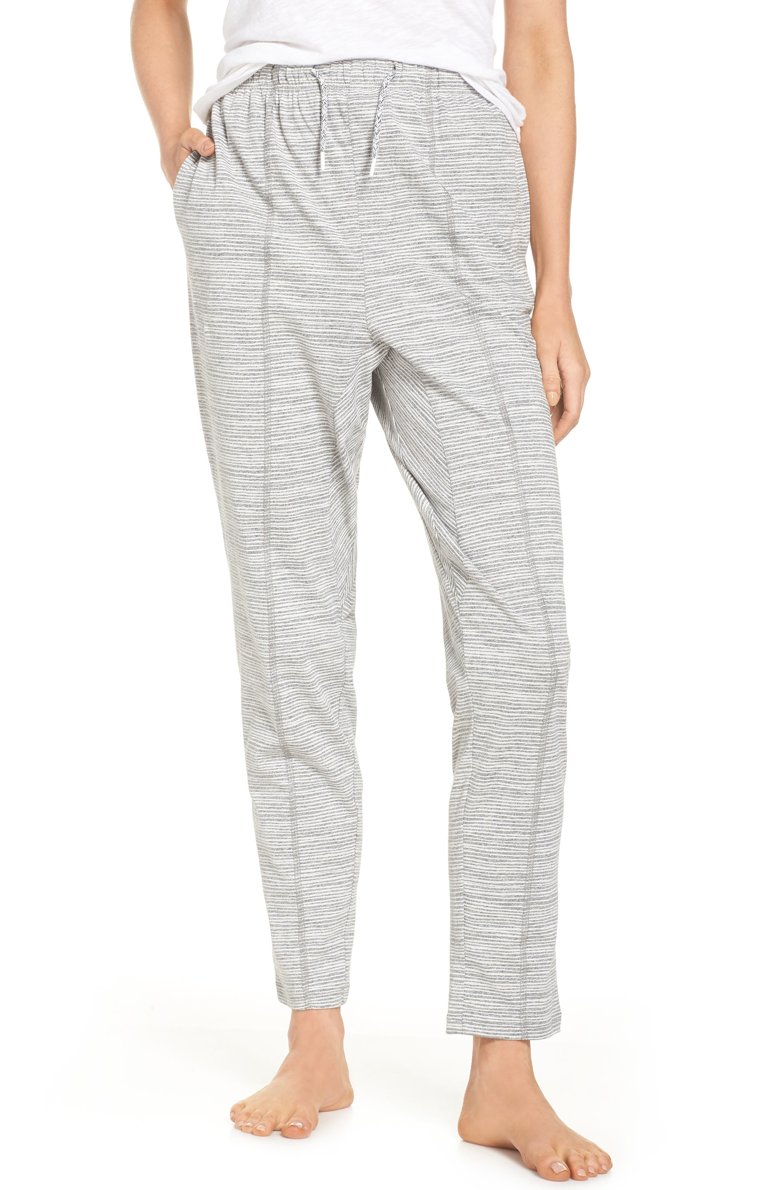 Ash Stripe Lounge Pants,                             Main thumbnail 1, color,                             Ash Marle Stripe