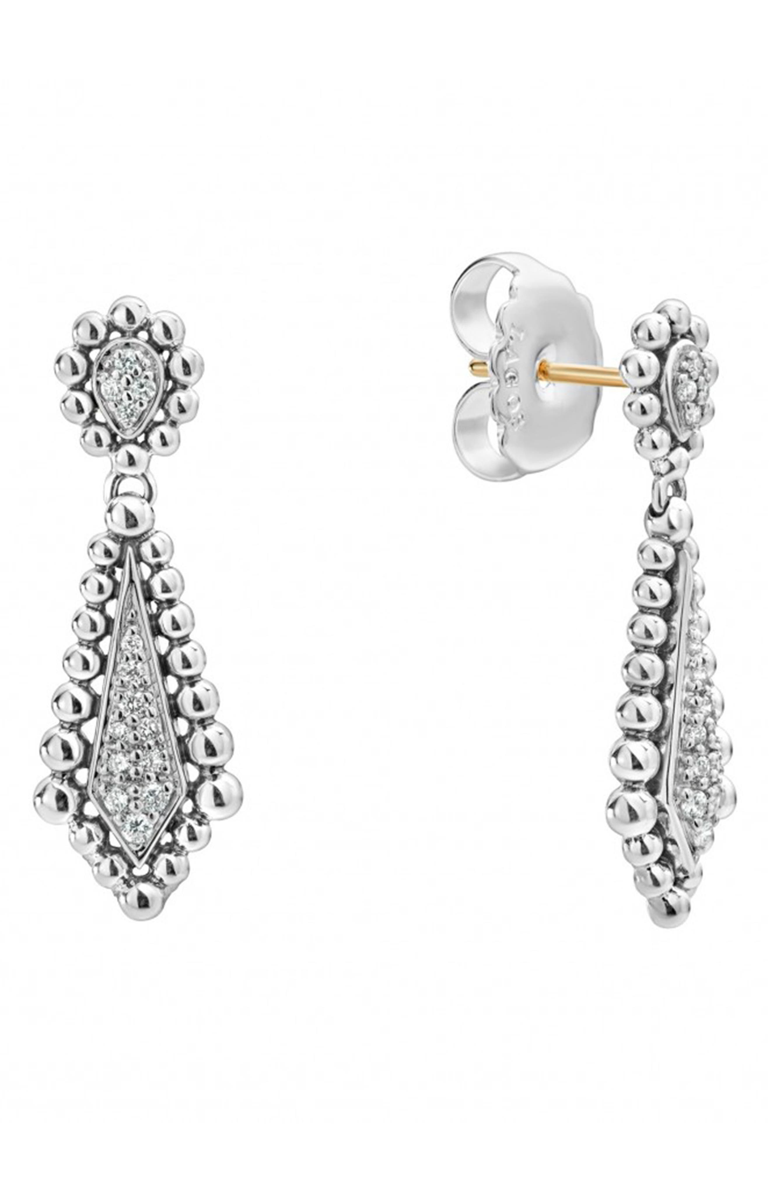 Caviar Spark Diamond Earrings,                             Alternate thumbnail 2, color,                             Diamond