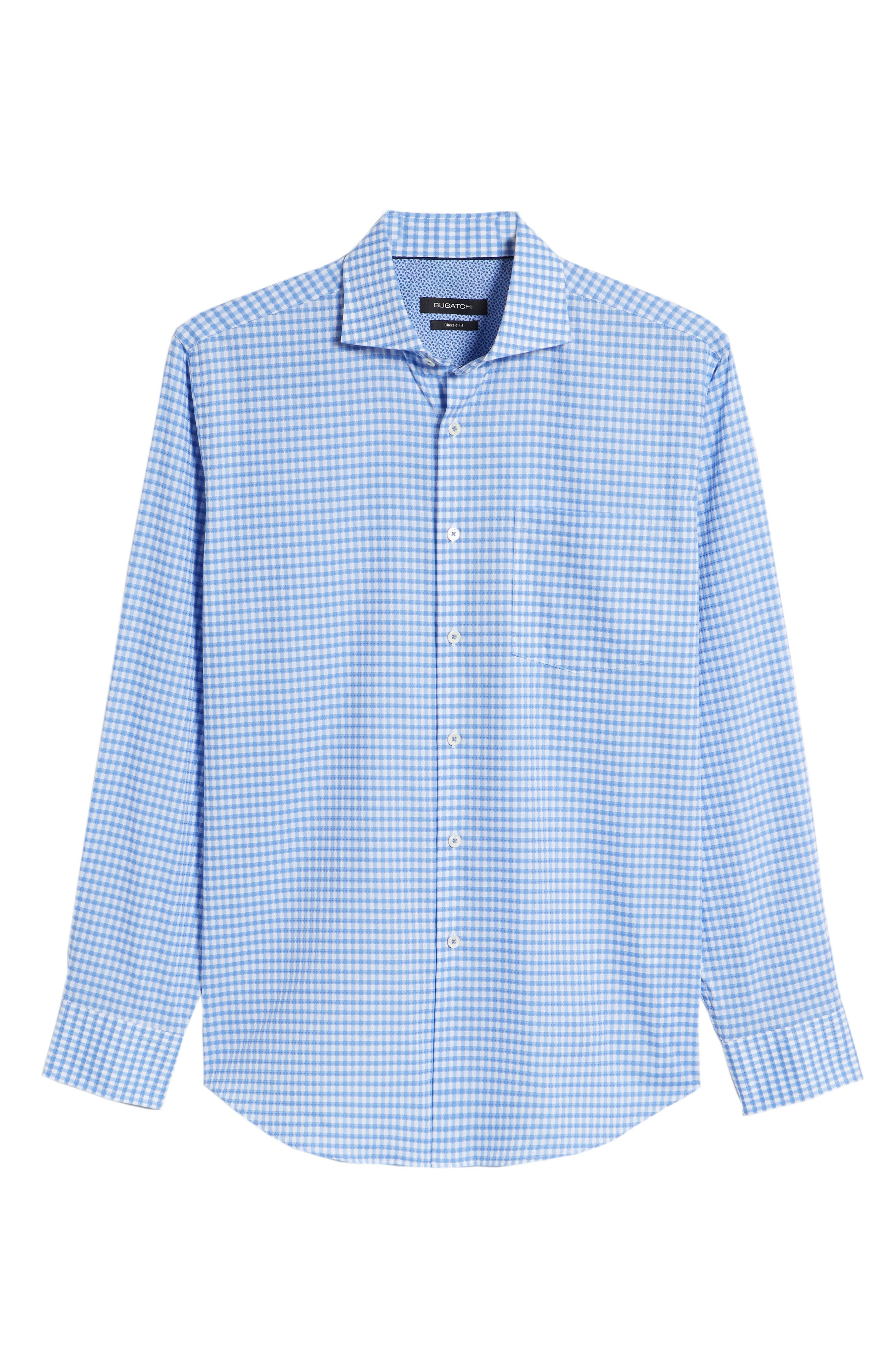 Alternate Image 6  - Bugatchi Classic Fit Mini Check Sport Shirt